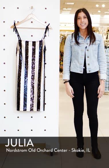 Vertical Sequin Stripe Dress, sales video thumbnail
