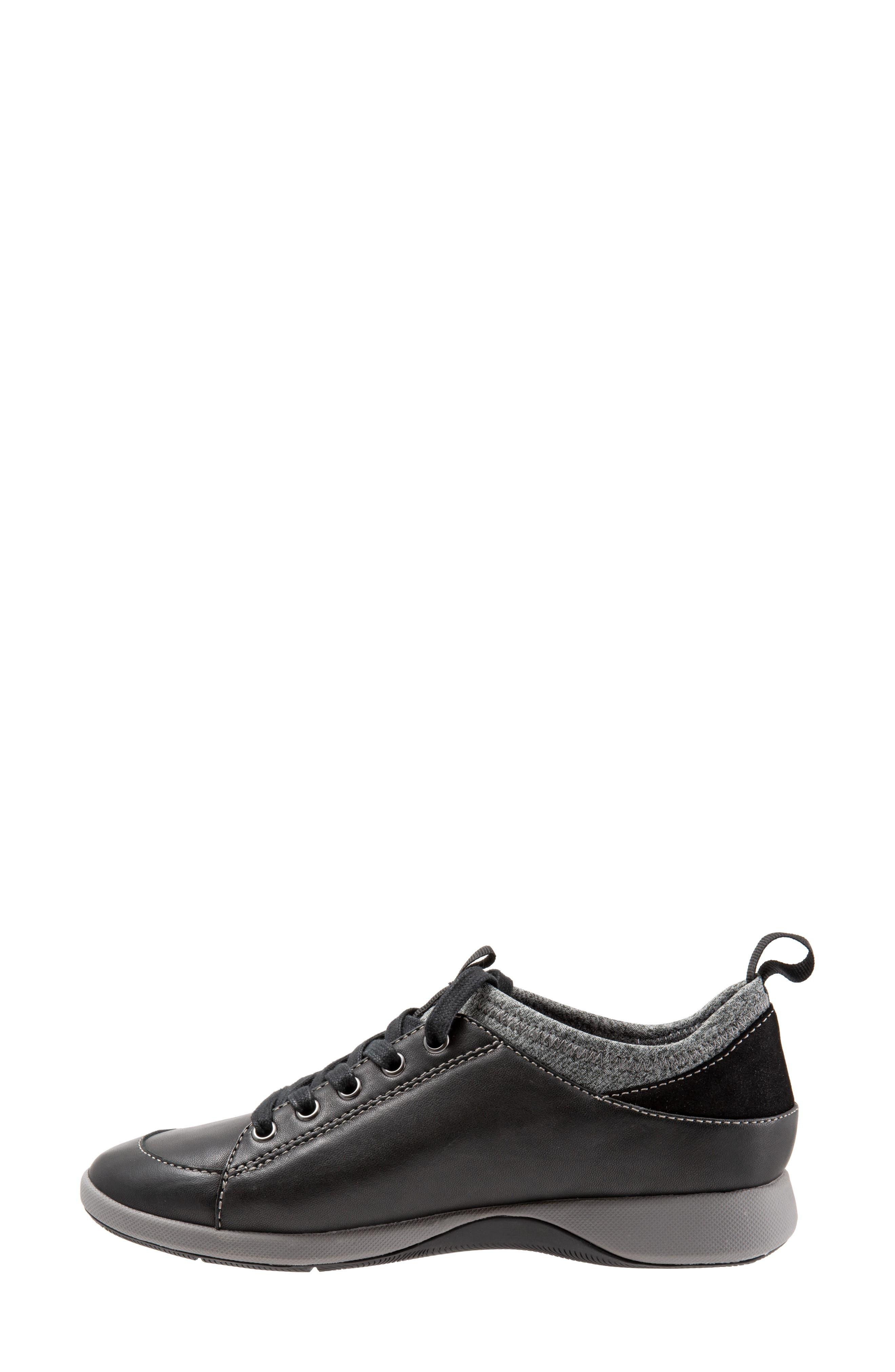 SOFTWALK<SUP>®</SUP>, SAVA Haven Sneaker, Alternate thumbnail 9, color, BLACK/ GREY LEATHER