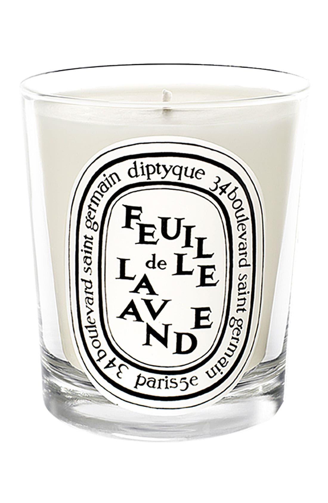DIPTYQUE, Feuille de Lavande/Lavender Leaf Scented Candle, Main thumbnail 1, color, NO COLOR