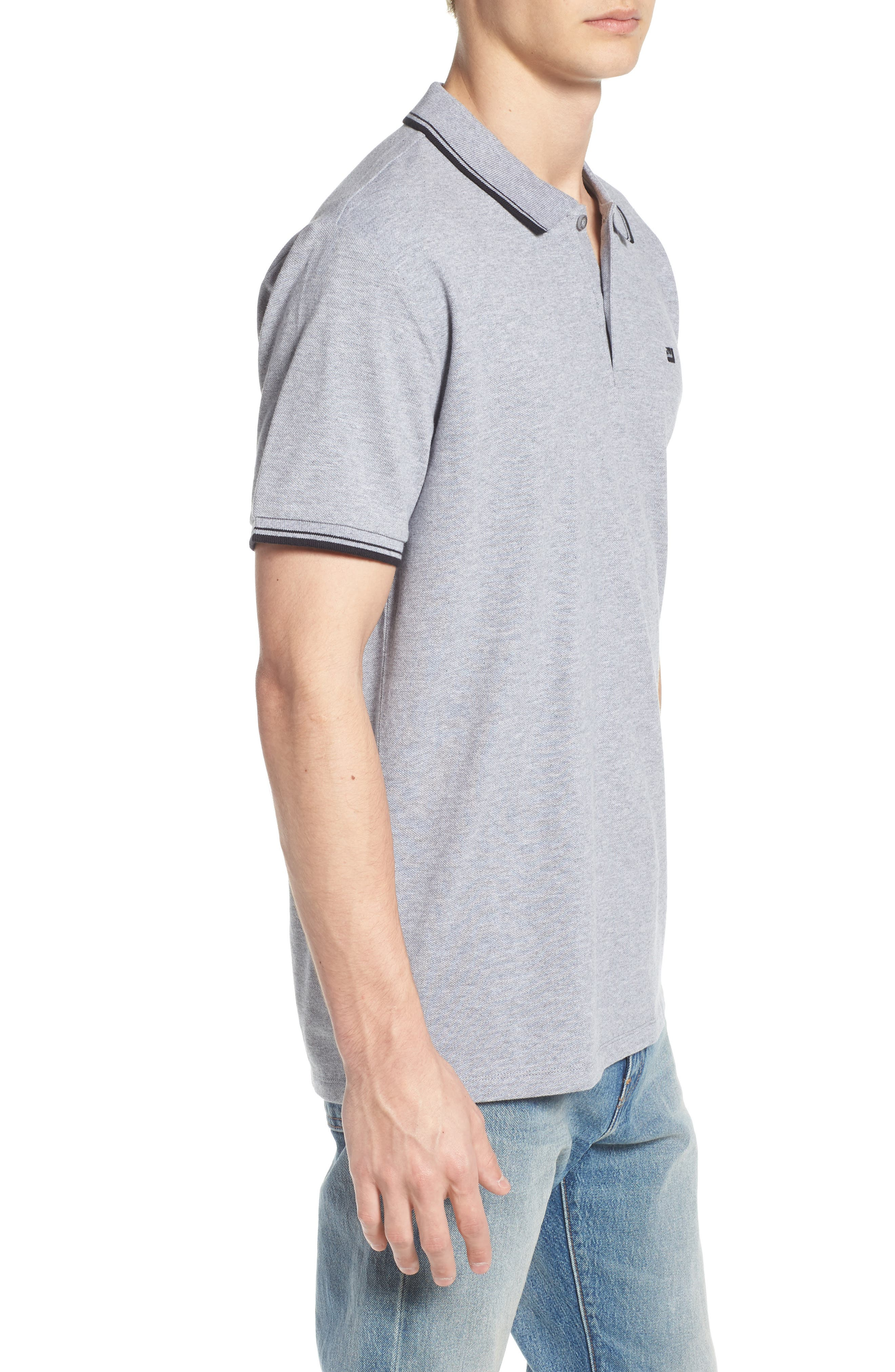 BEN SHERMAN, Romford Polo, Alternate thumbnail 3, color, GREY