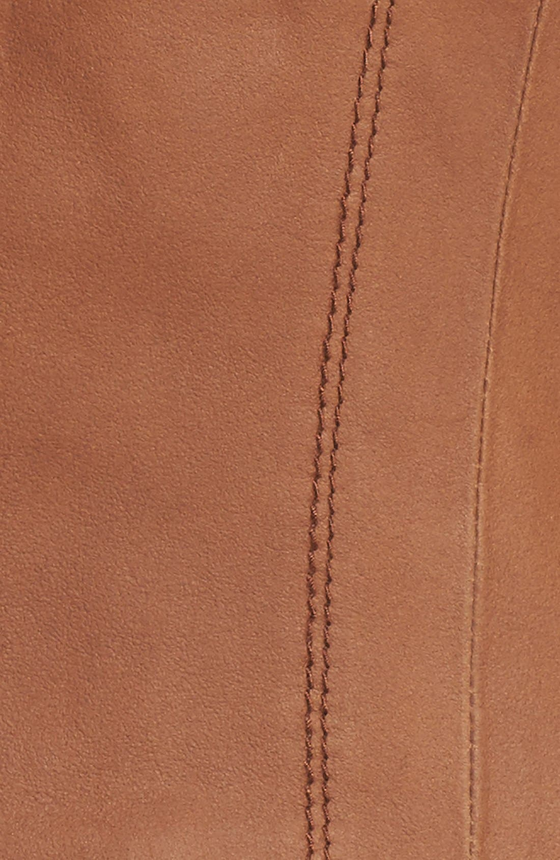 ANDREW MARC, Marc New York by Andrew Marc Felix Stand Collar Leather Jacket, Alternate thumbnail 12, color, WHISKEY