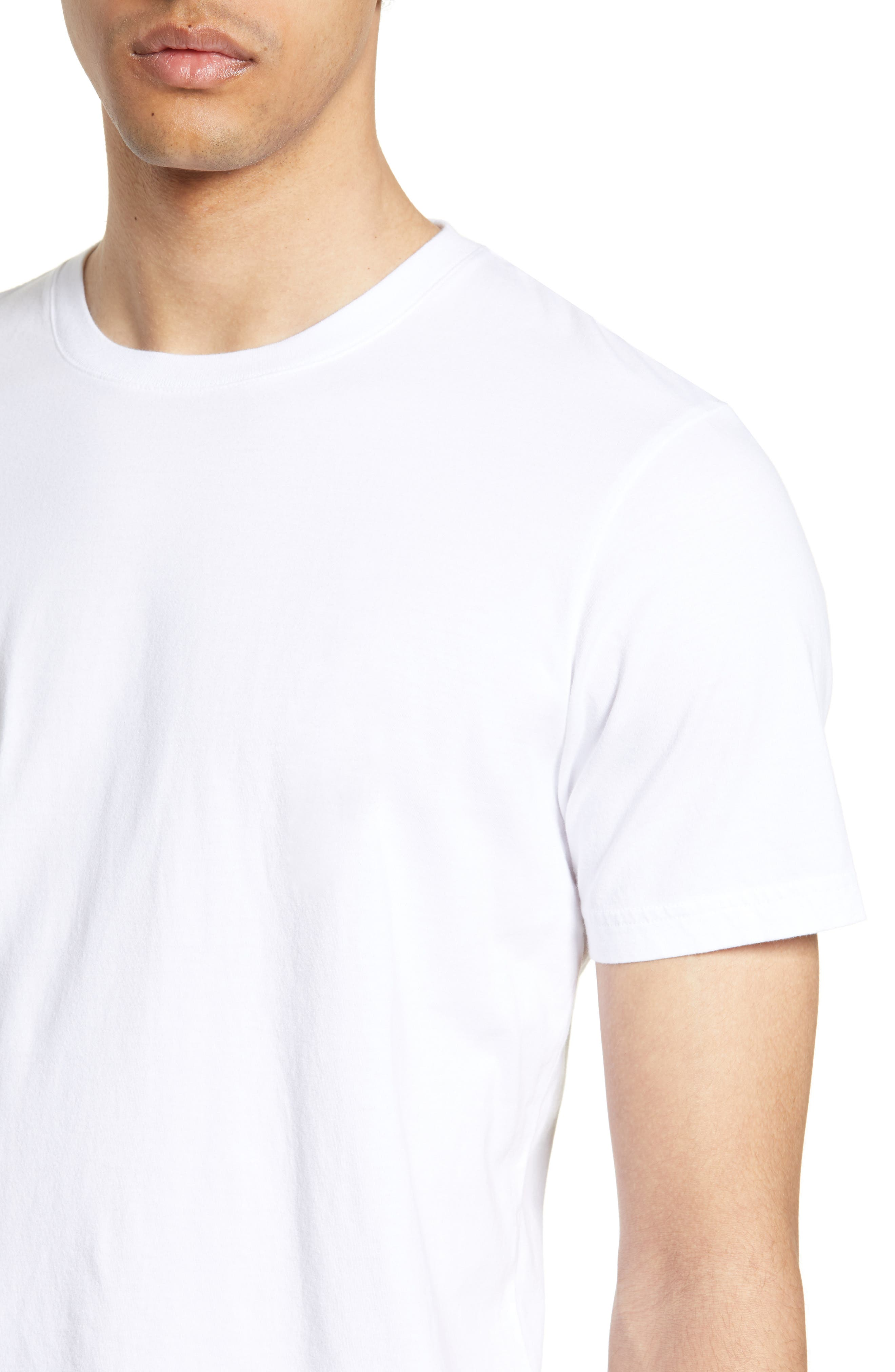 WINGS + HORNS, Short Sleeve Crewneck T-Shirt, Alternate thumbnail 4, color, WHITE