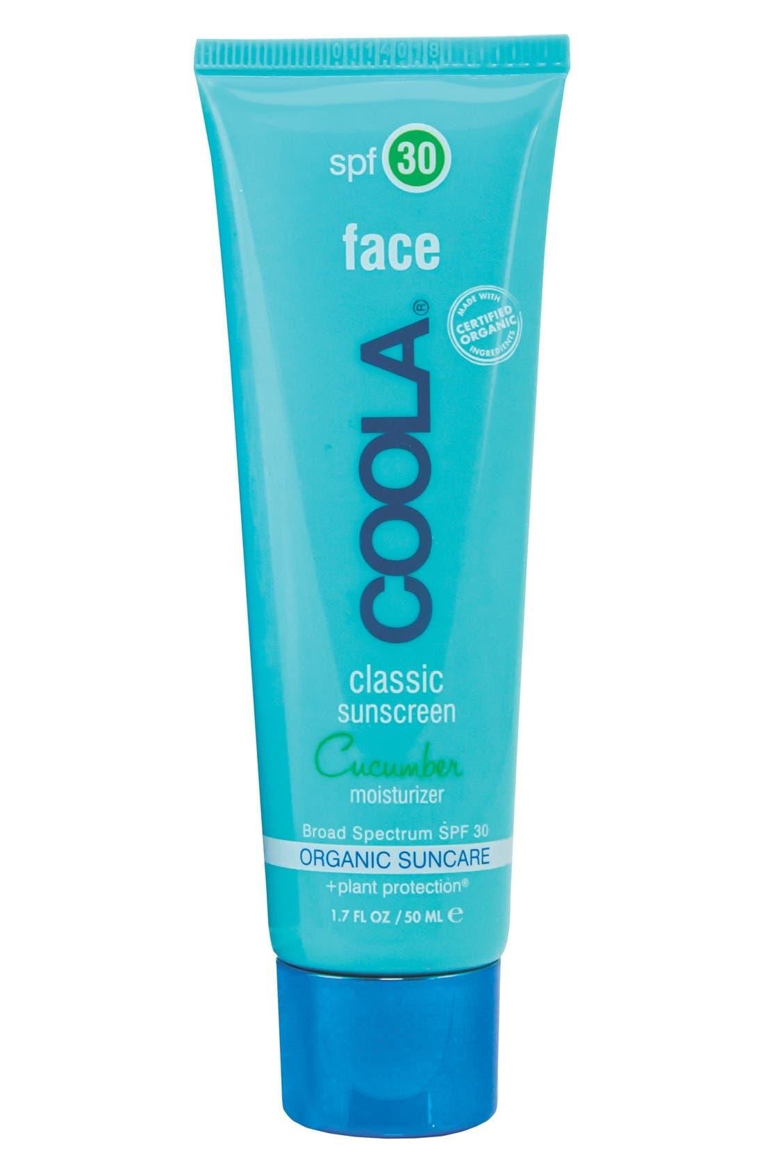 COOLA SUNCARE COOLA<sup>®</sup> Suncare Face Classic Sunscreen SPF 30, Main, color, CUCUMBER
