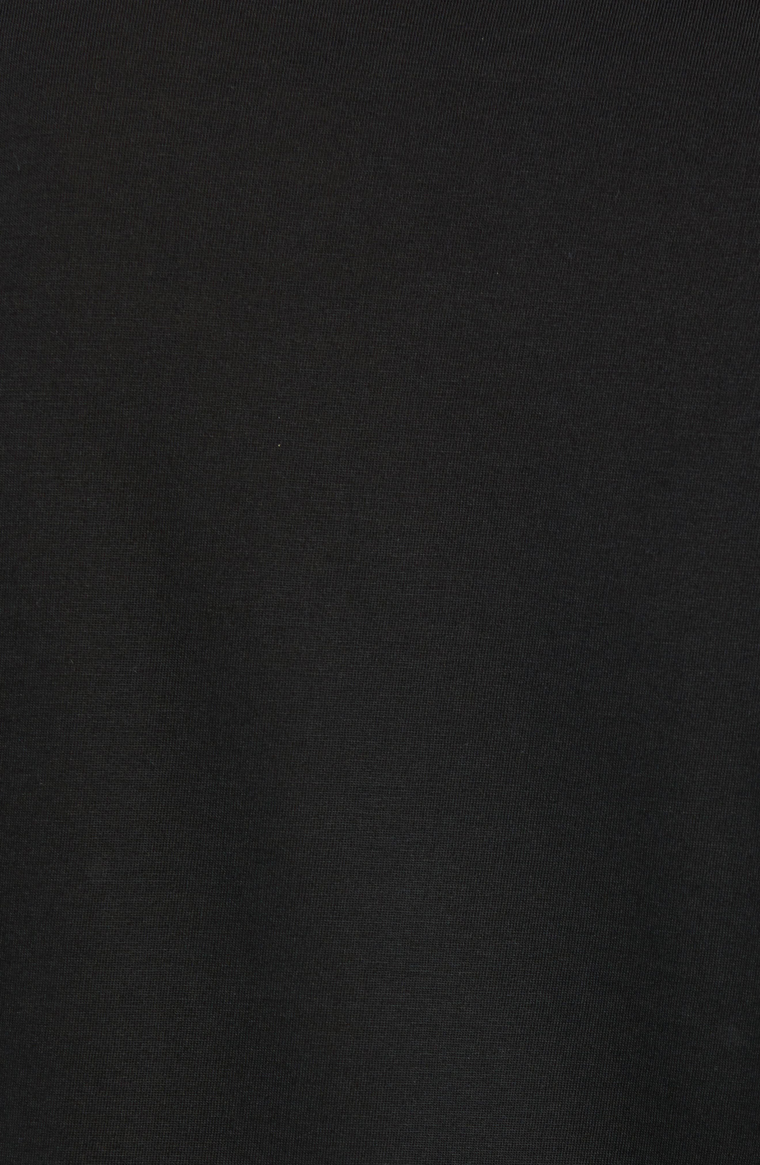 LACOSTE, Long Sleeve Pima Cotton T-Shirt, Alternate thumbnail 5, color, BLACK