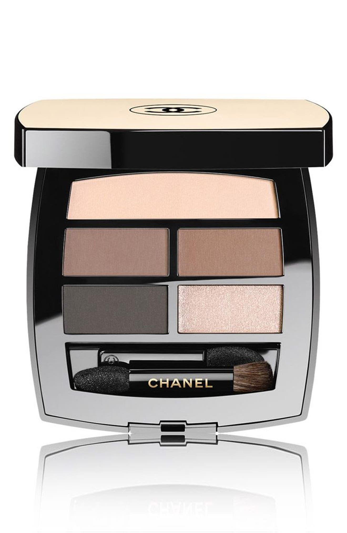 CHANEL, LES BEIGES HEALTHY GLOW Natural Eyeshadow Palette, Main thumbnail 1, color, MEDIUM