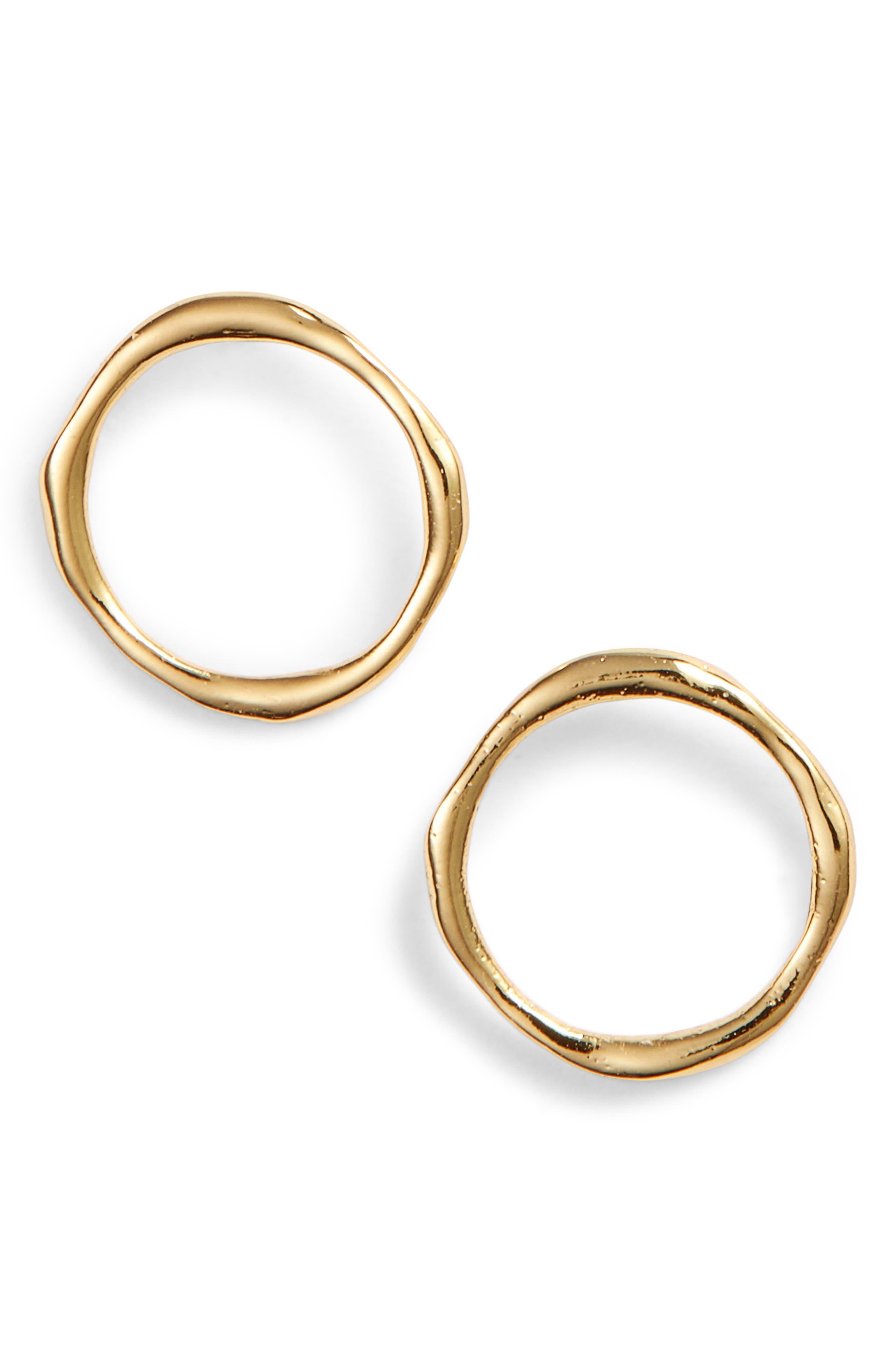 GORJANA, Quinn Delicate Stud Earrings, Main thumbnail 1, color, GOLD