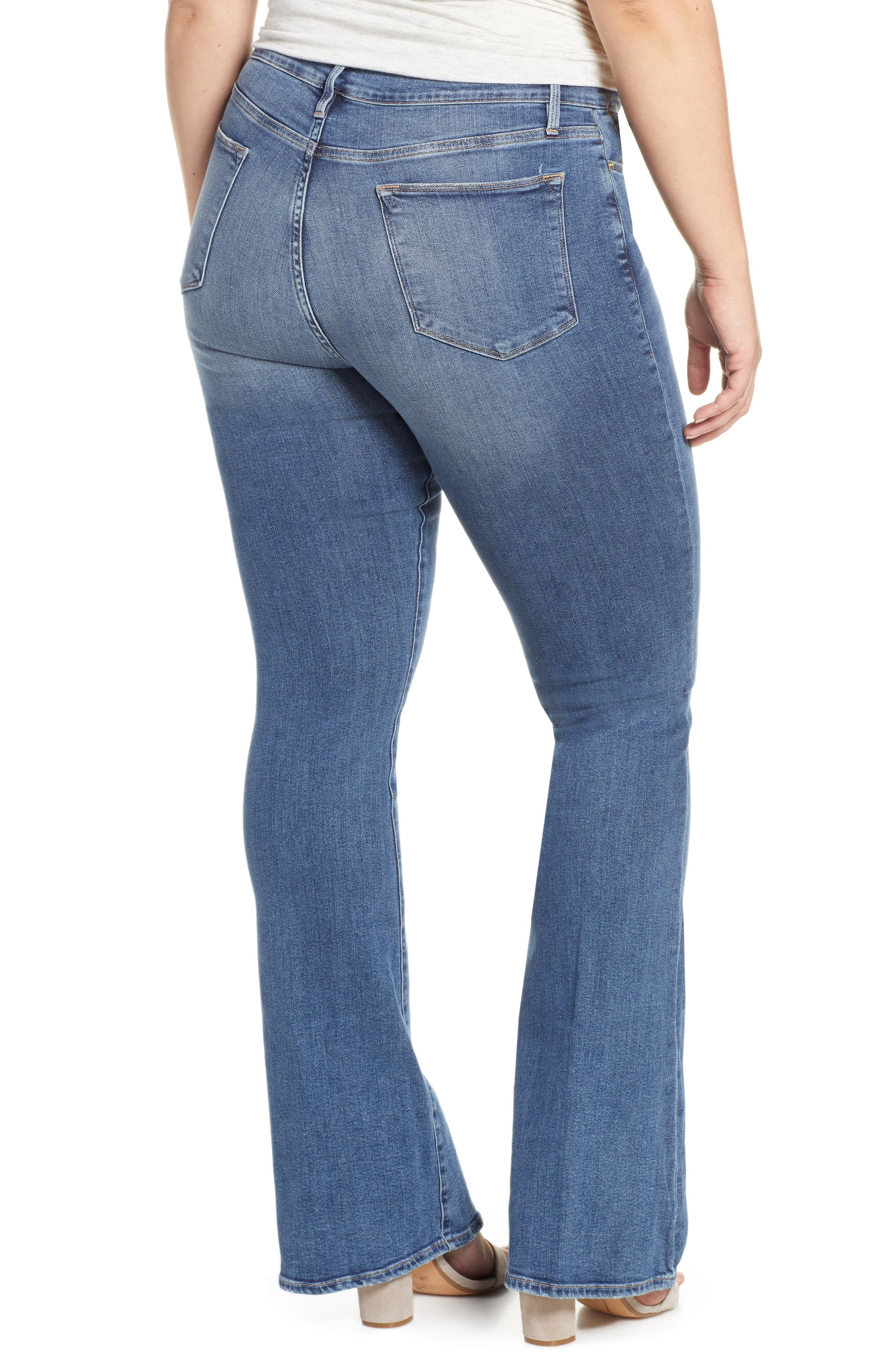 FRAME, Le High Flare Jeans, Alternate thumbnail 9, color, CRISTALLO