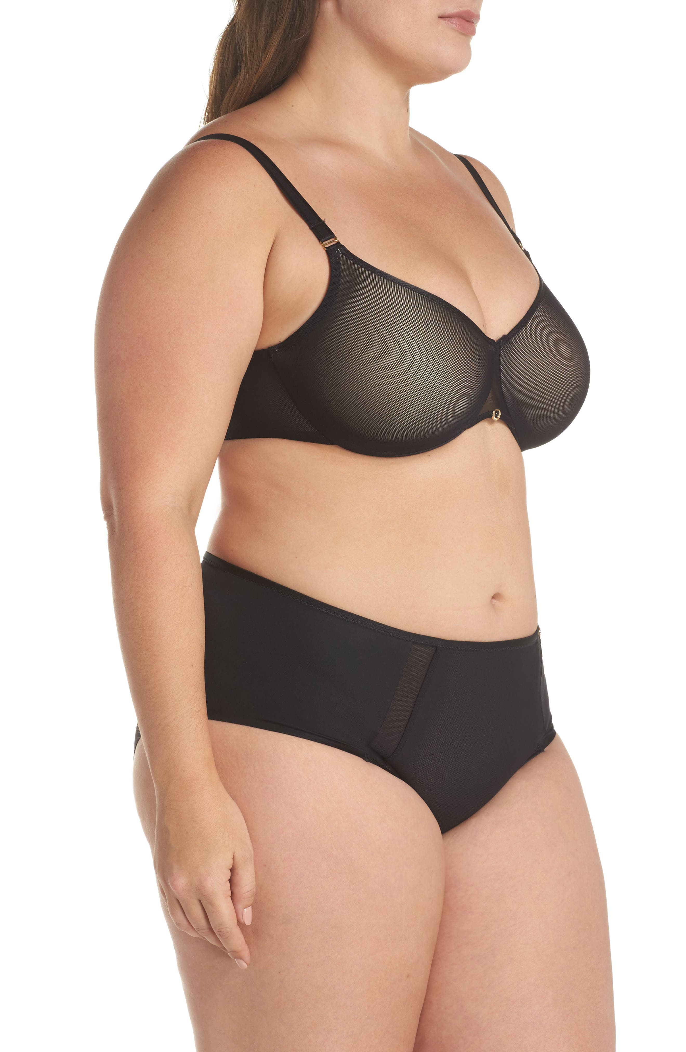 CHANTELLE LINGERIE, C Magnifique Sexy Full Coverage Underwire Bra, Alternate thumbnail 11, color, BLACK