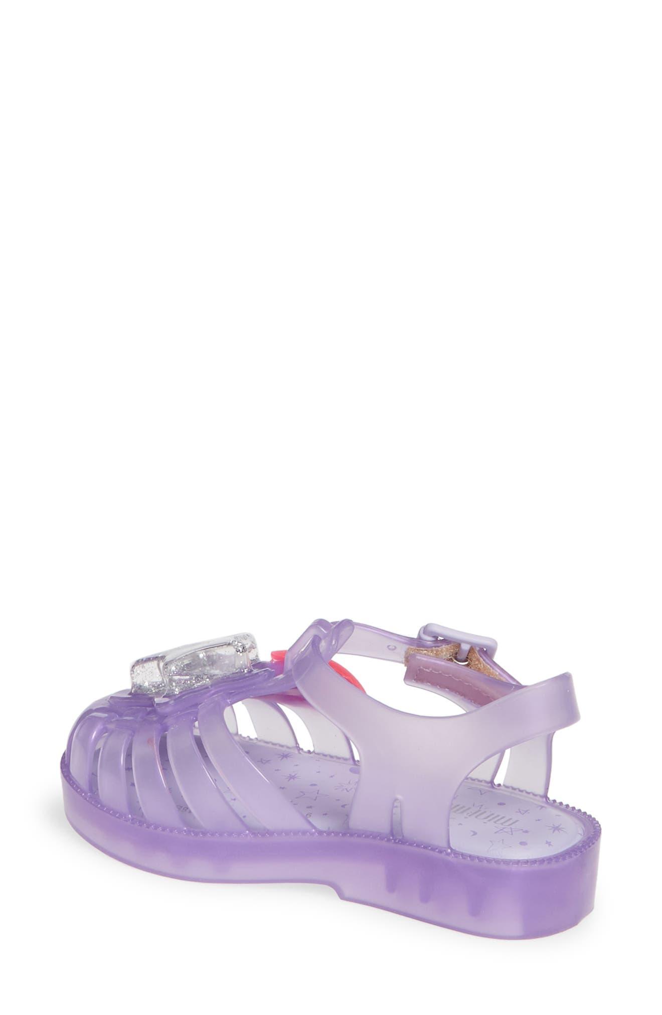 MINI MELISSA, Possession II Glitter Sandal, Alternate thumbnail 2, color, PURPLE