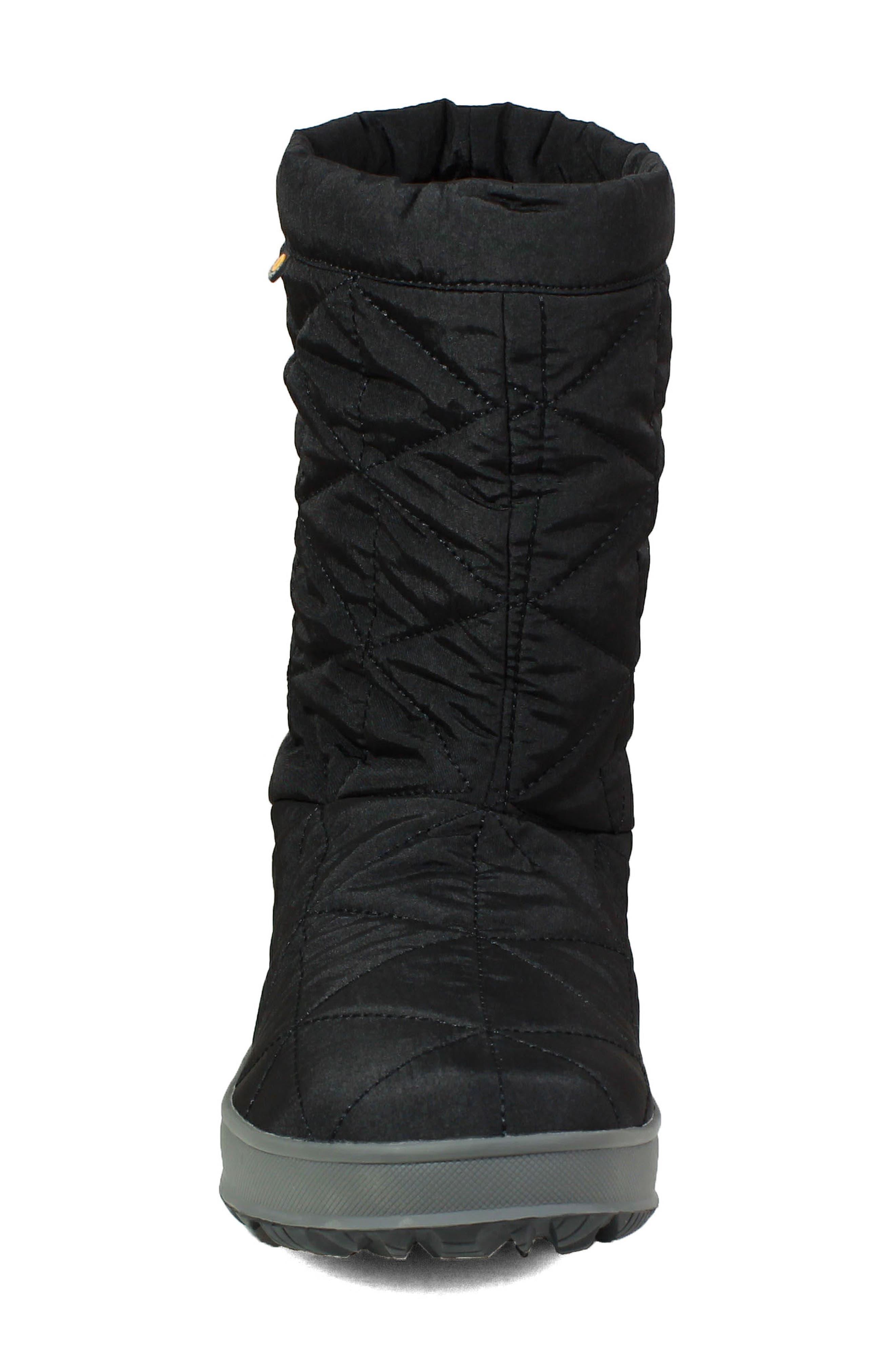 BOGS, Mid Snowday Waterproof Bootie, Alternate thumbnail 4, color, BLACK