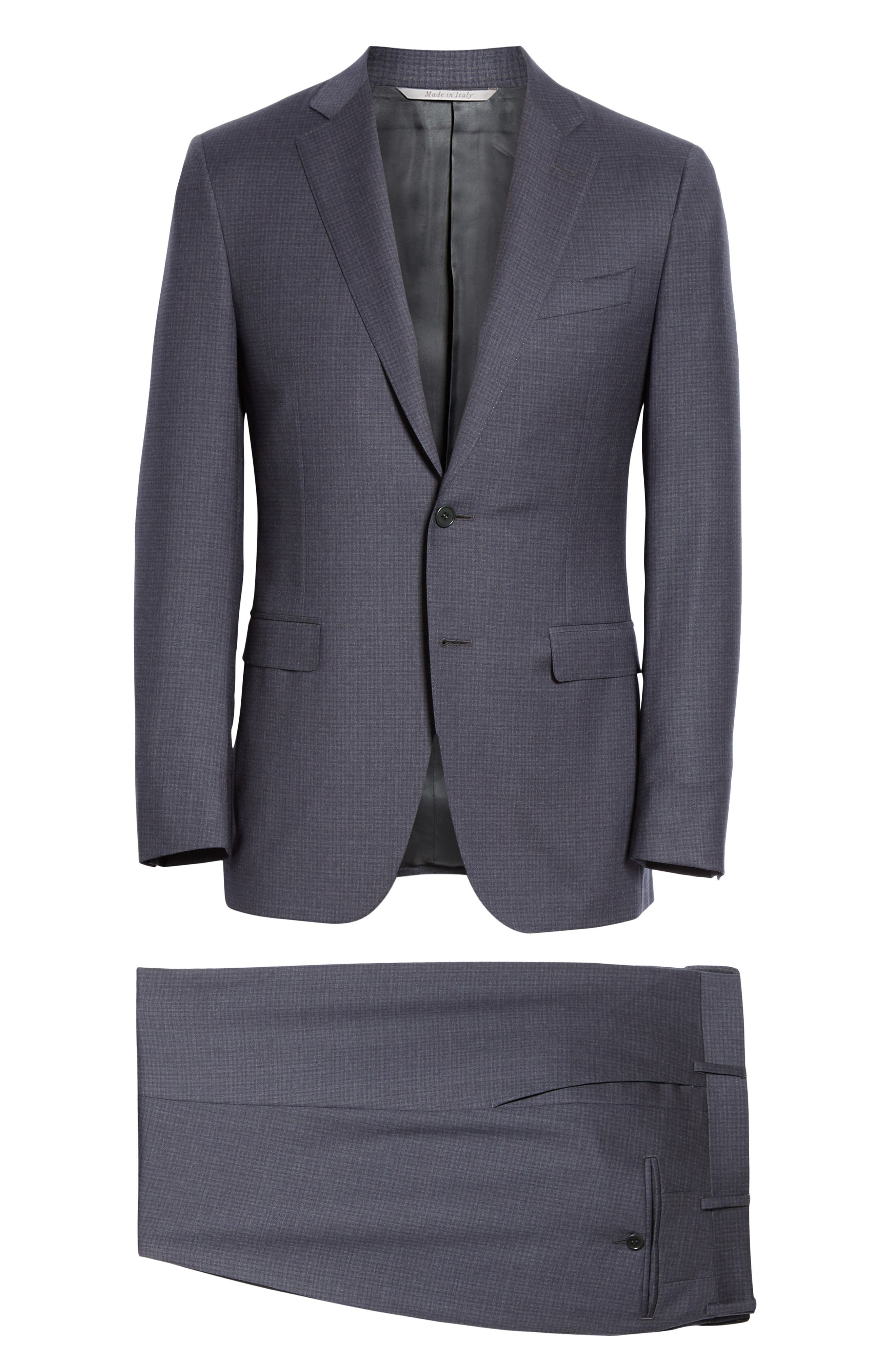 CANALI, Milano Classic Fit Check Wool Suit, Alternate thumbnail 8, color, CHARCOAL