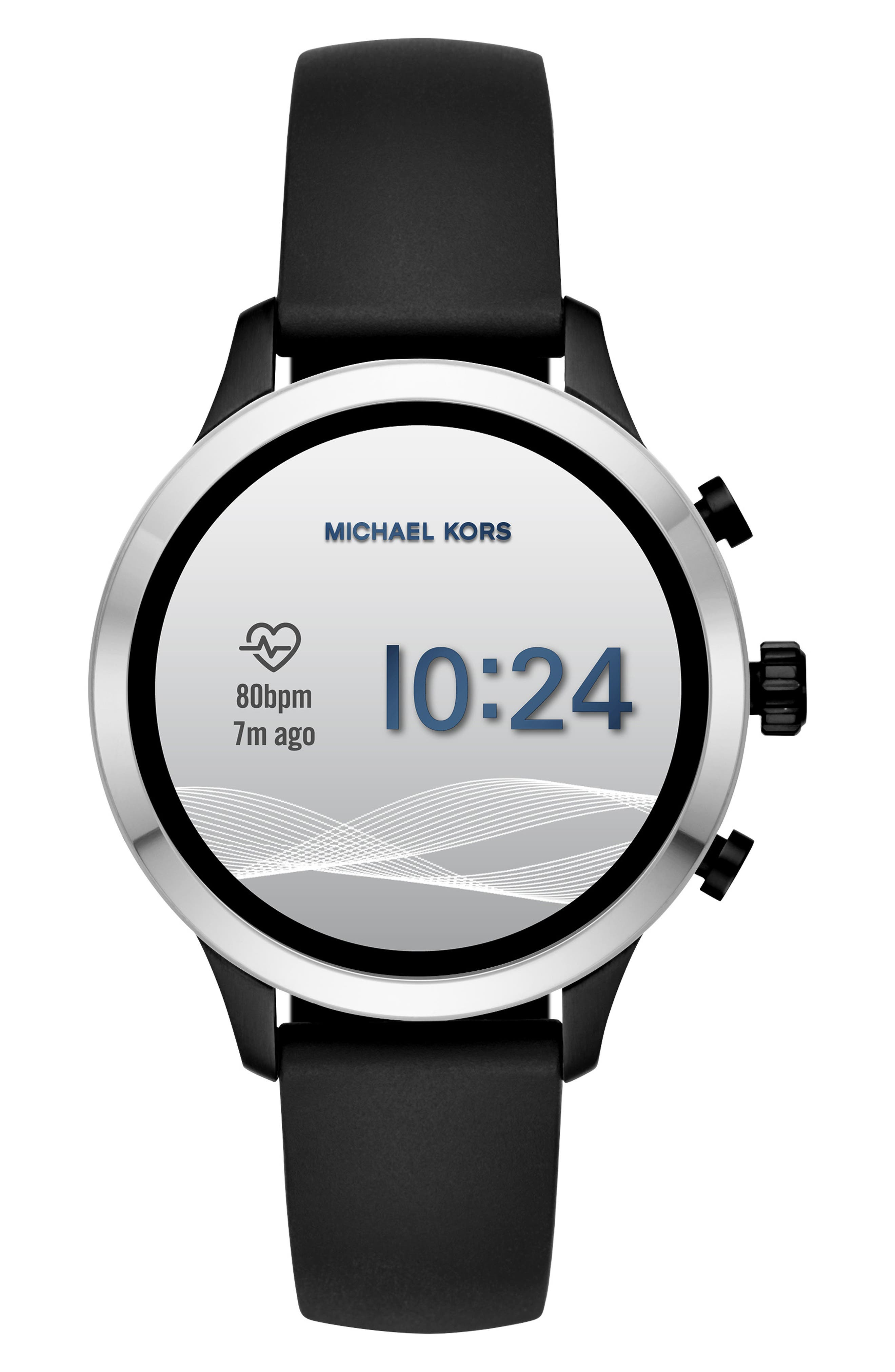 MICHAEL KORS, MICHAEL Michael Kors Access Runway Smart Watch, 41mm, Alternate thumbnail 6, color, 001