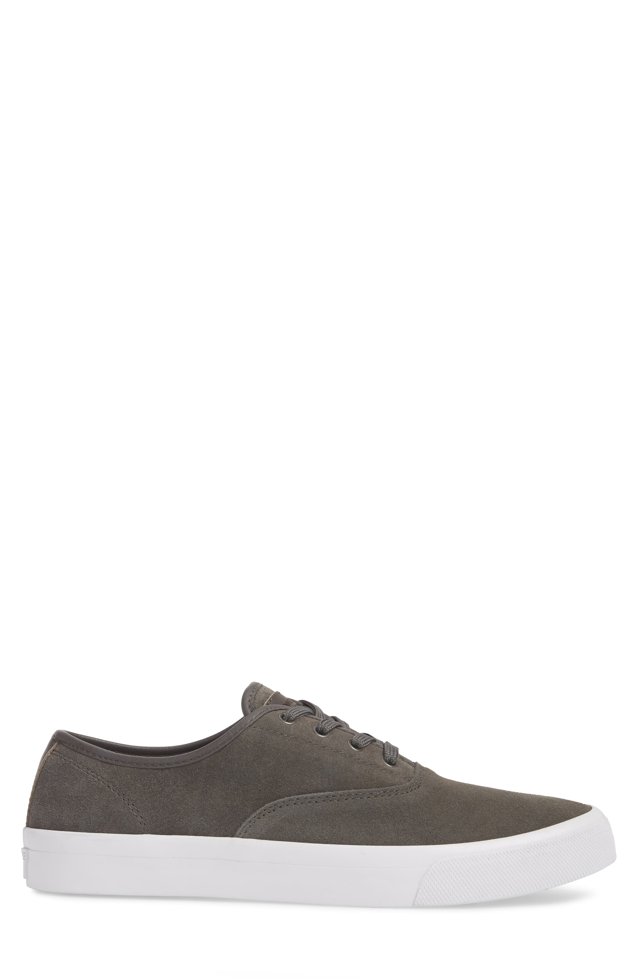 KENNETH COLE NEW YORK, Toor Low Top Sneaker, Alternate thumbnail 3, color, GREY COMBO SUEDE
