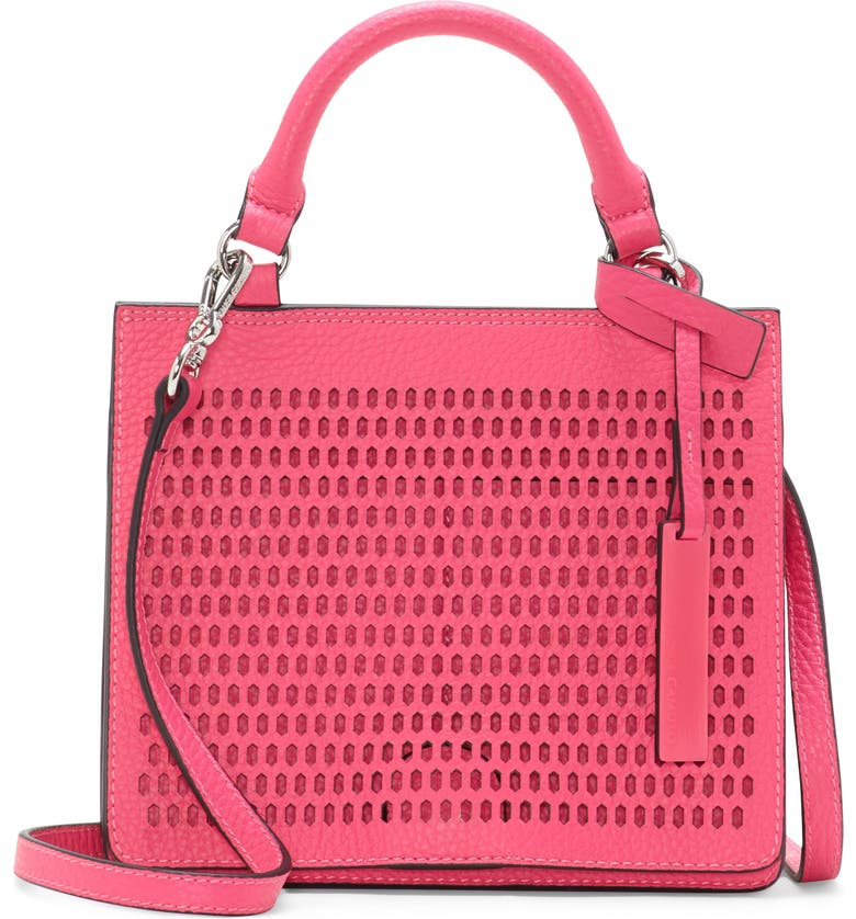 VINCE CAMUTO Small Leif Leather Handbag, Main, color, PINK GLO