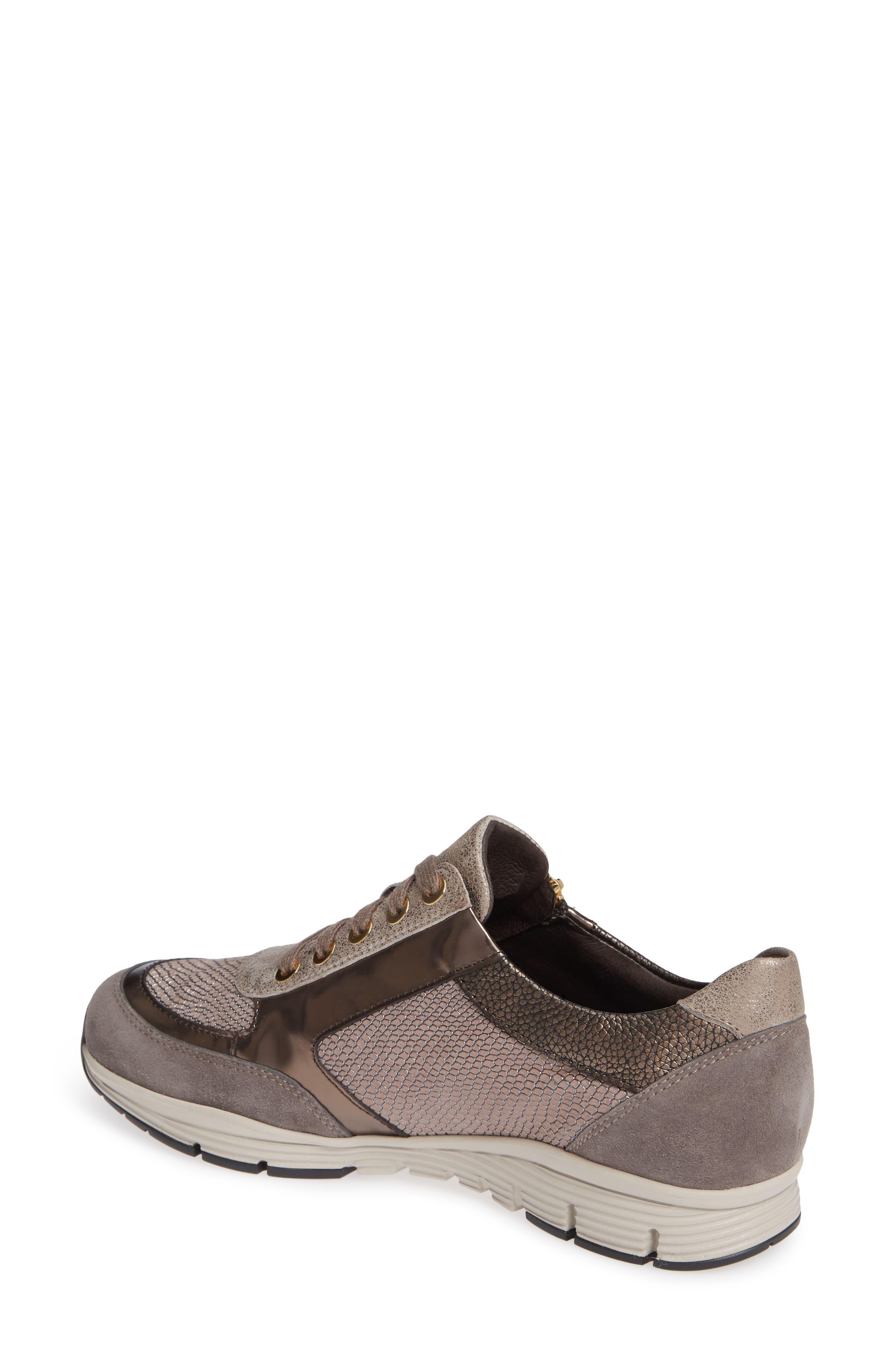 MEPHISTO, Ylona Sneaker, Alternate thumbnail 2, color, DARK GREY SUEDE