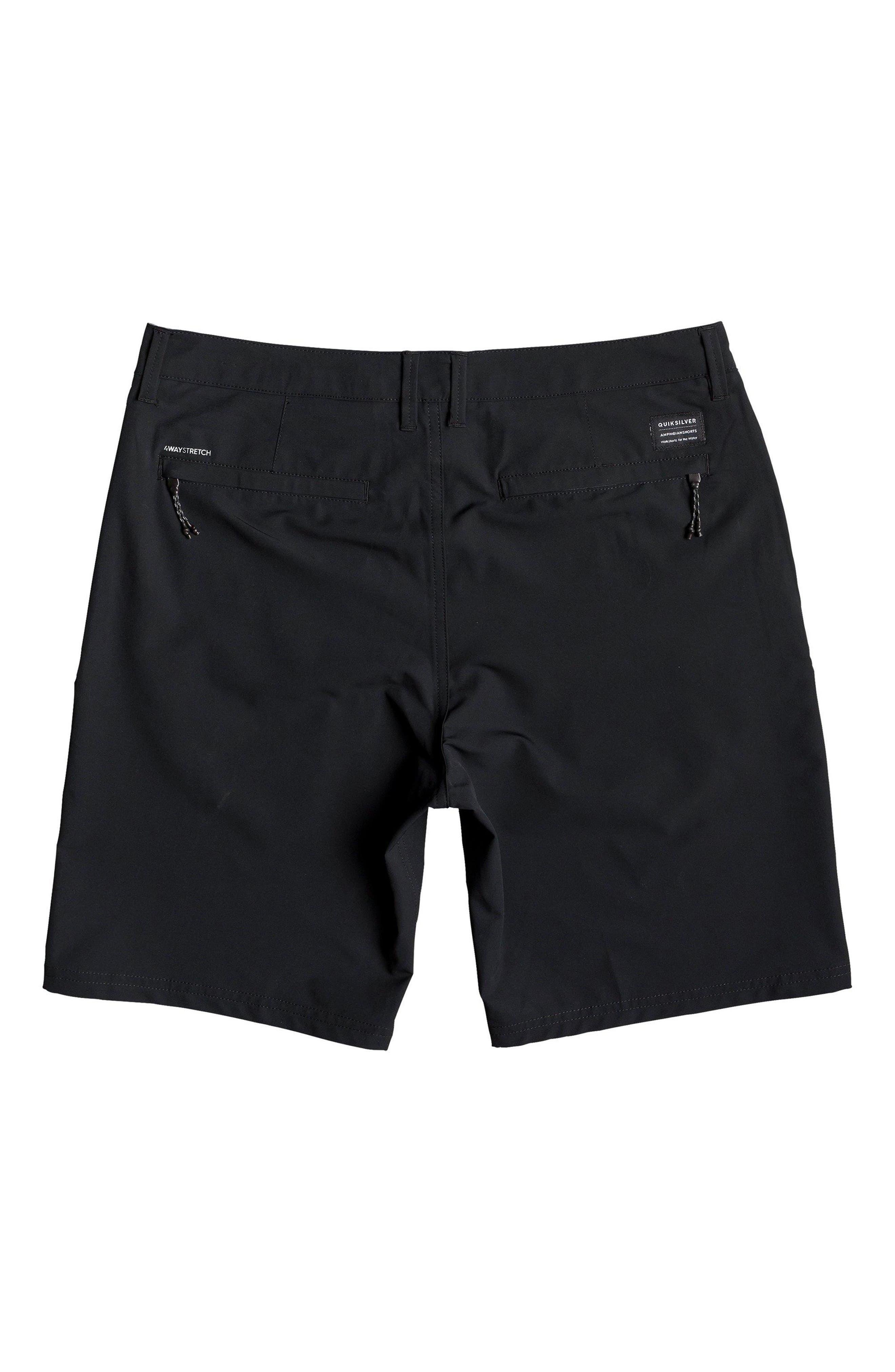 QUIKSILVER, Navigate Amphibian Shorts, Alternate thumbnail 4, color, BLACK