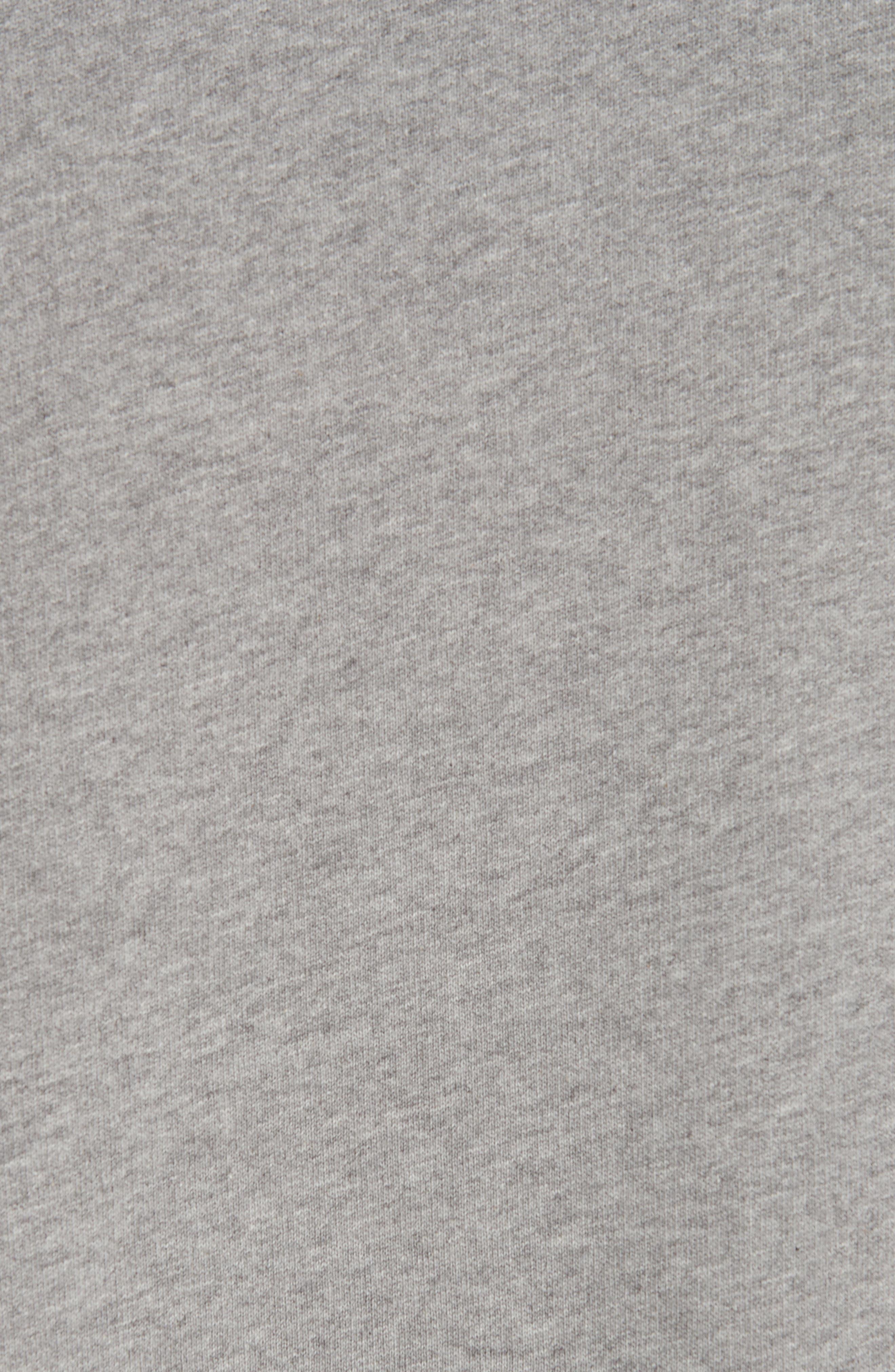ACNE STUDIOS, Forba Face Sweatshirt, Alternate thumbnail 5, color, LIGHT GREY MELANGE