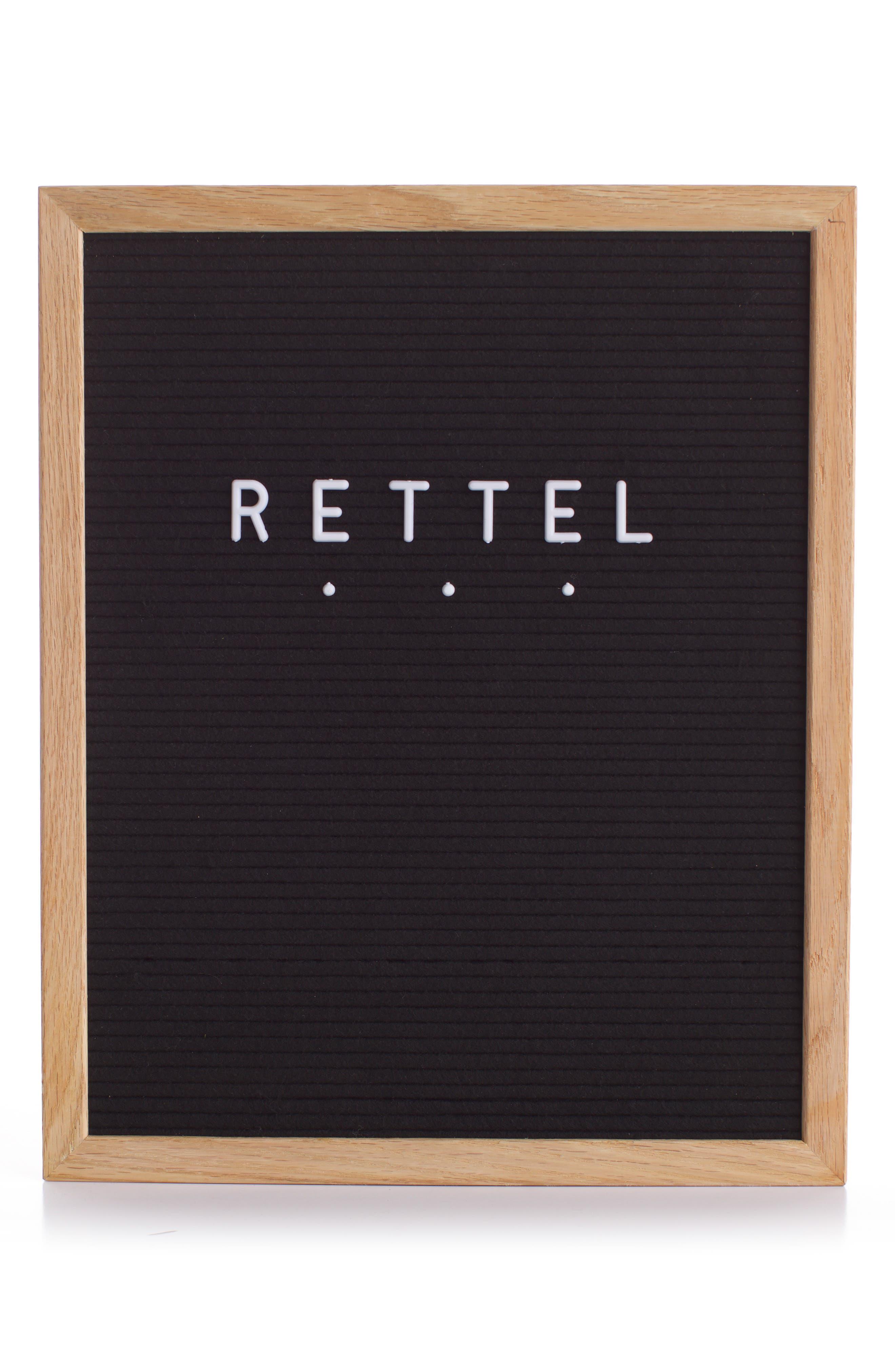 RETTEL, The Chit Chat Letterboard, Main thumbnail 1, color, BLACK