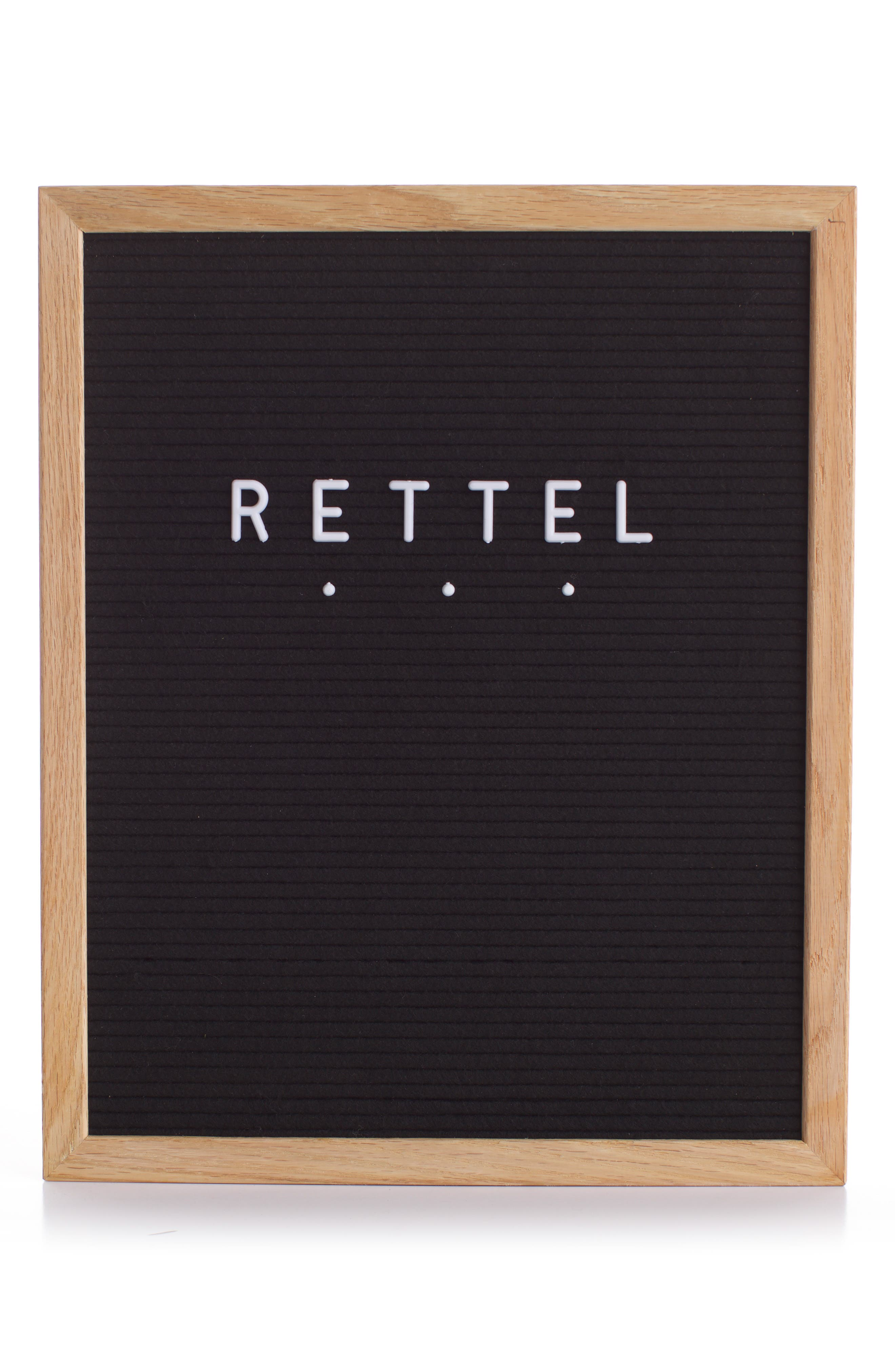 RETTEL The Chit Chat Letterboard, Main, color, BLACK