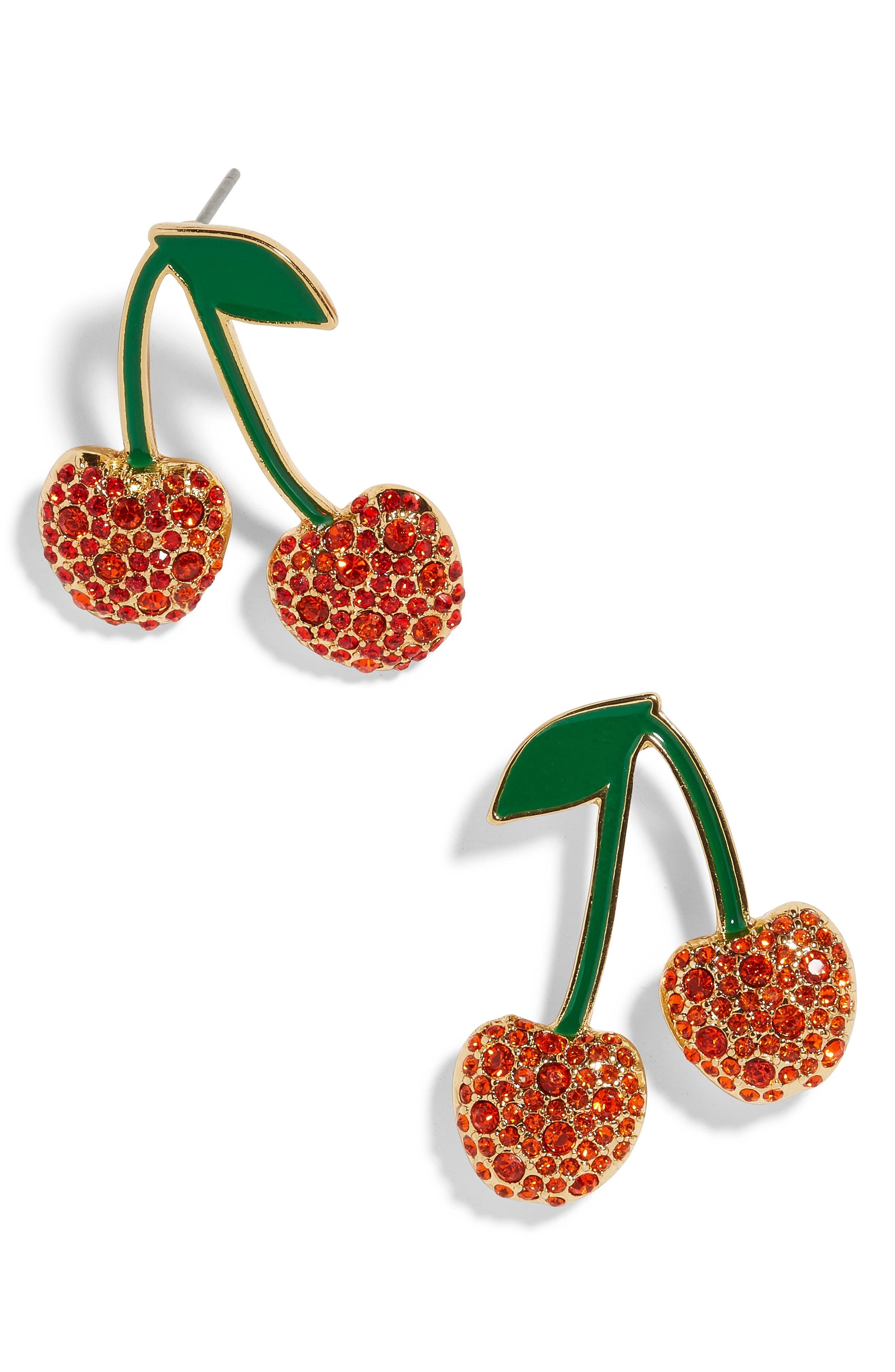 BAUBLEBAR Cherry Earrings, Main, color, RED