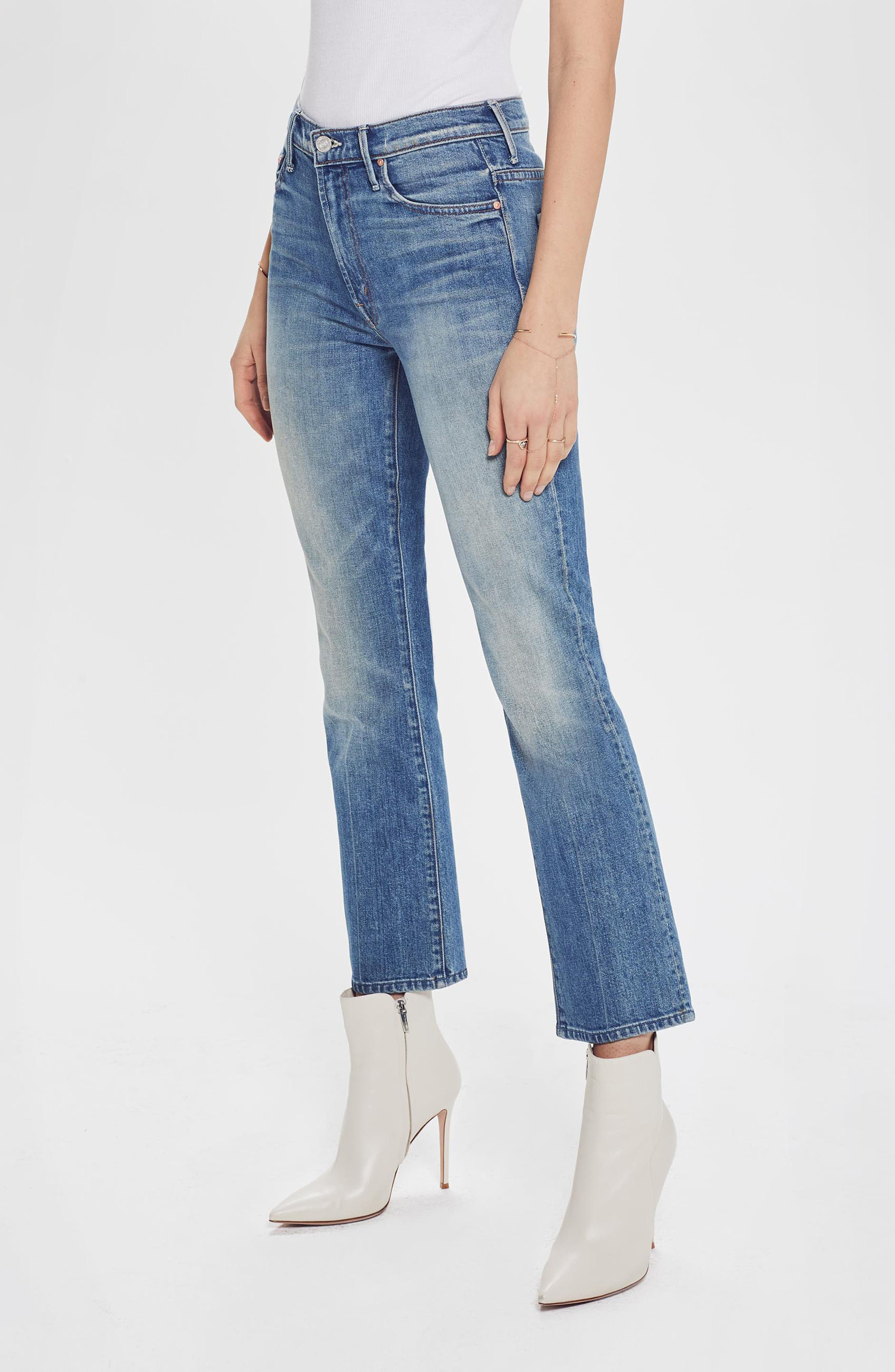 MOTHER, The Insider Ankle Bootcut Jeans, Alternate thumbnail 7, color, 421