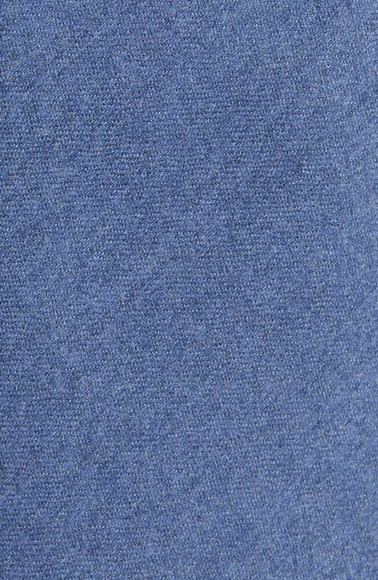 THE TIE BAR, Togna Solid Wool Tie, Alternate thumbnail 2, color, BLUE