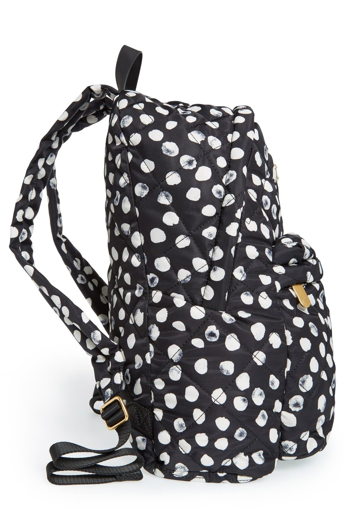 MARC JACOBS, MARC BY MARC JACOBS 'Crosby' Quilted Backpack, Alternate thumbnail 3, color, 001
