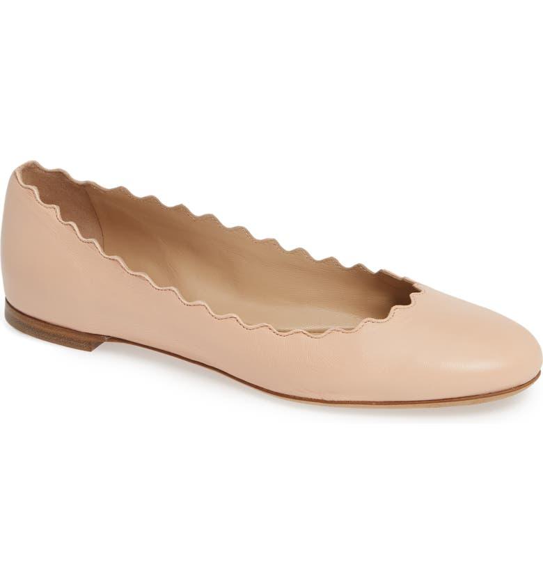 847fe9cca66 Chloé  Lauren  Scalloped Ballet Flat (Women)