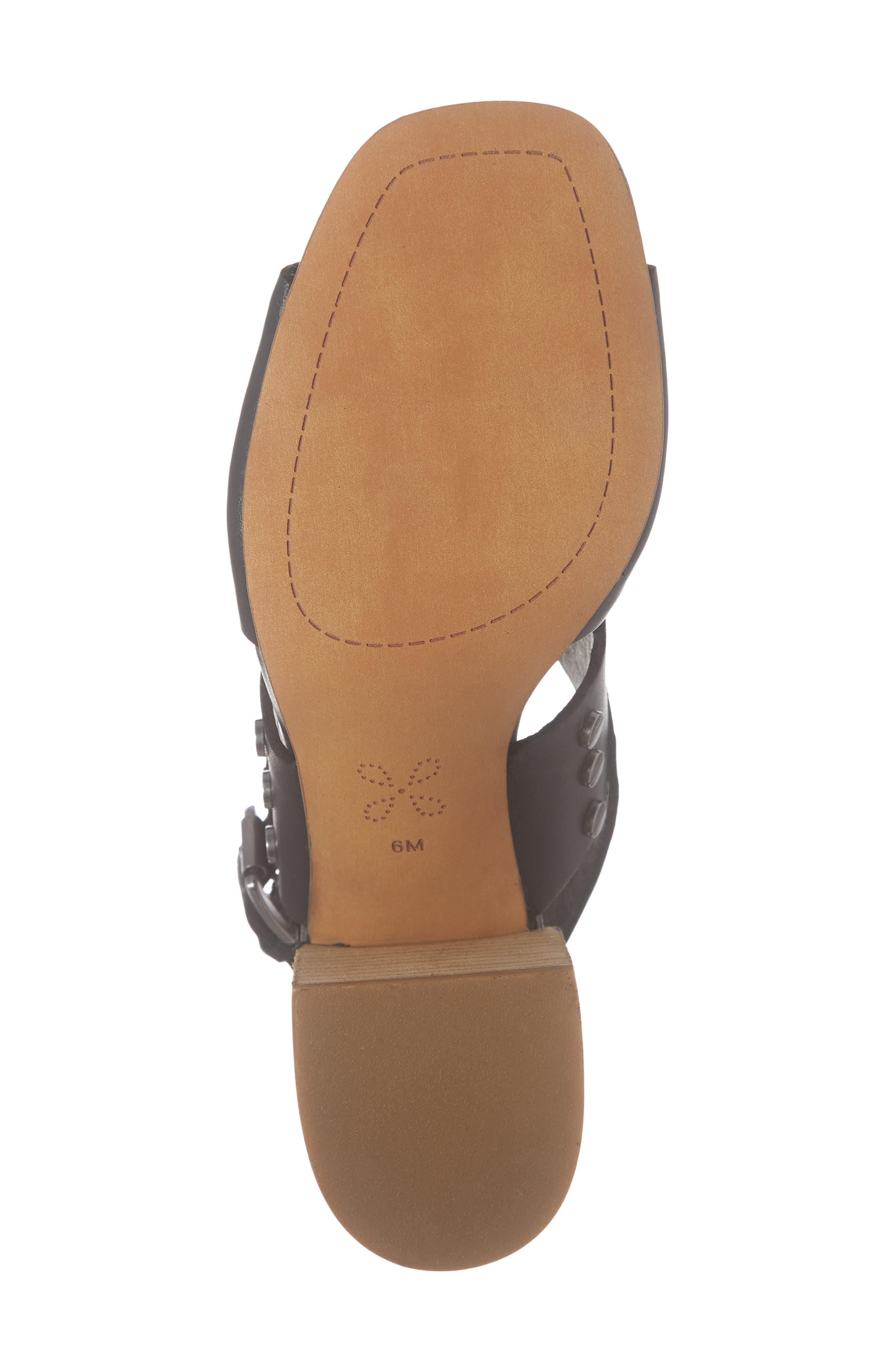 CASLON<SUP>®</SUP>, Caslon Brayden Slingback Sandal, Alternate thumbnail 6, color, BLACK LEATHER