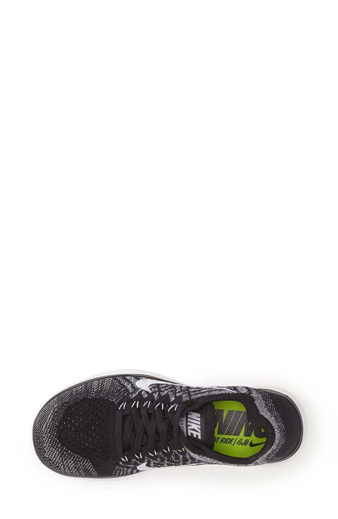 NIKE, 'Free 4.0 Flyknit' Running Shoe, Alternate thumbnail 3, color, 001