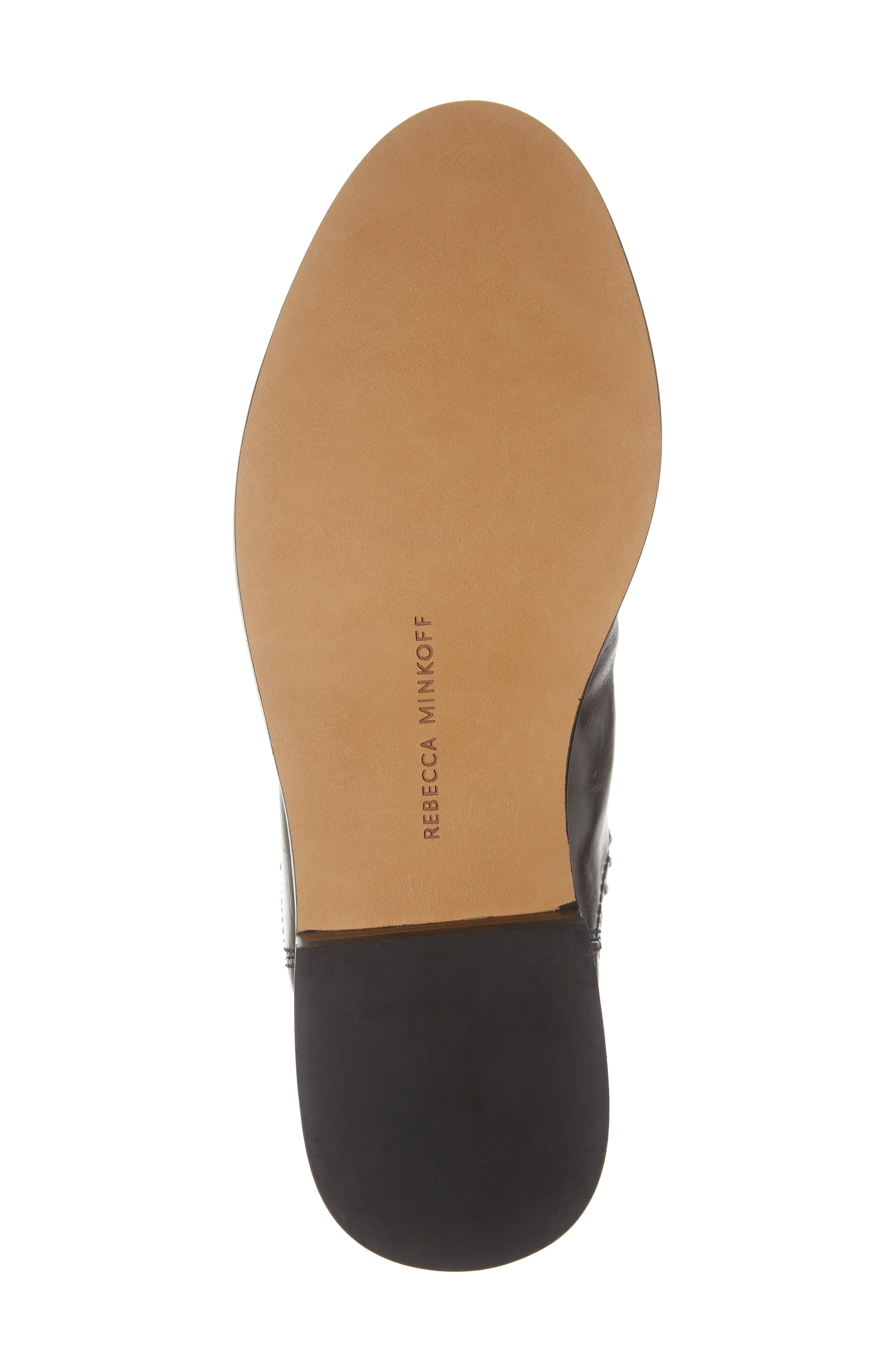 REBECCA MINKOFF, Sabeen Chelsea Bootie, Alternate thumbnail 6, color, BLACK LEATHER