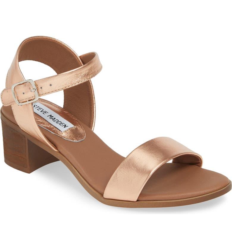 46986802d4aa Steve Madden April Block Heel Sandal (Women)