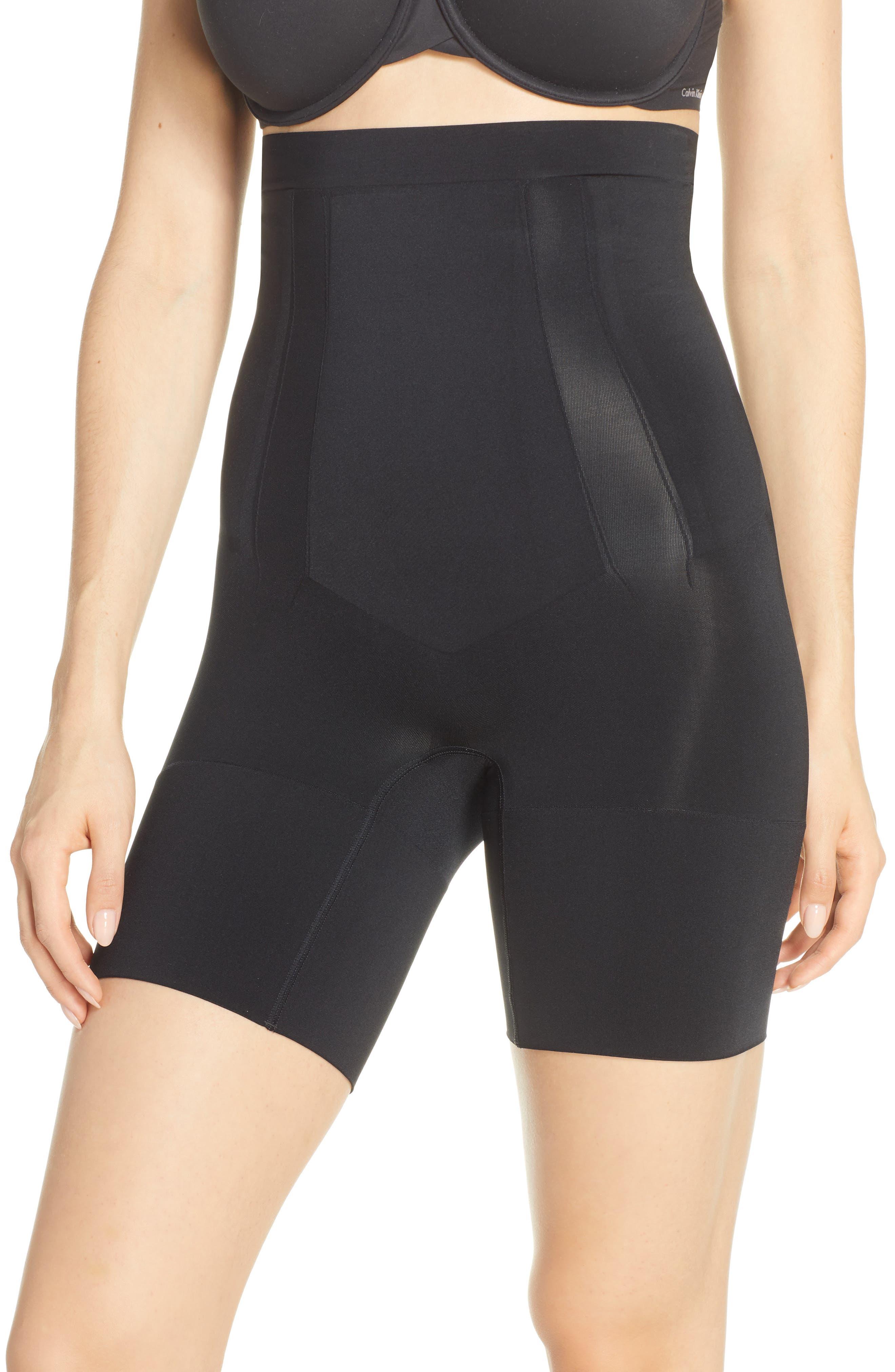 SPANX<SUP>®</SUP> Oncore High Waist Mid Thigh Shaper, Main, color, BLACK