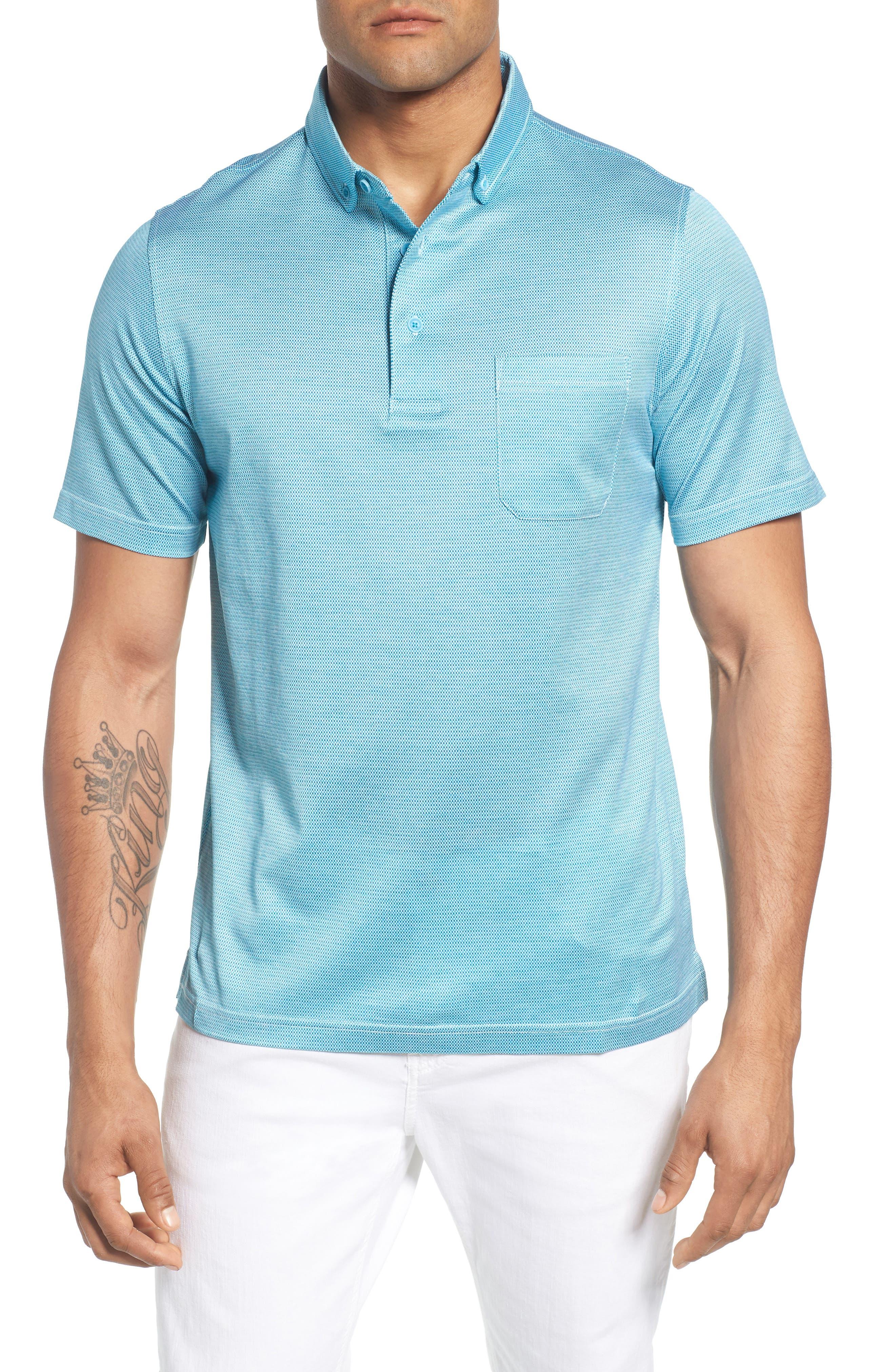 BUGATCHI Dot Mercerized Cotton Polo, Main, color, 425