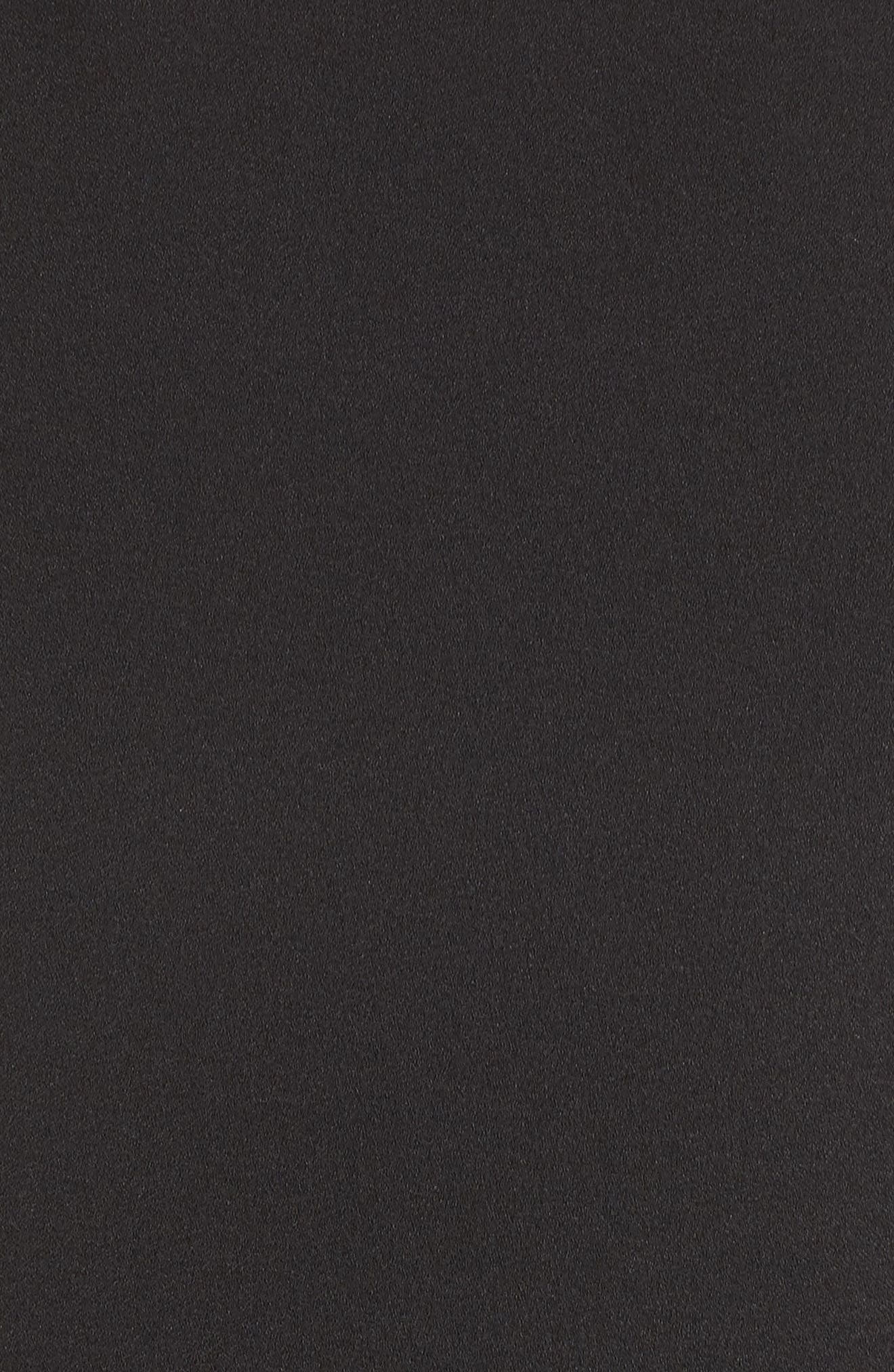 JULIA JORDAN, Shoulder Bow Jumpsuit, Alternate thumbnail 6, color, BLACK