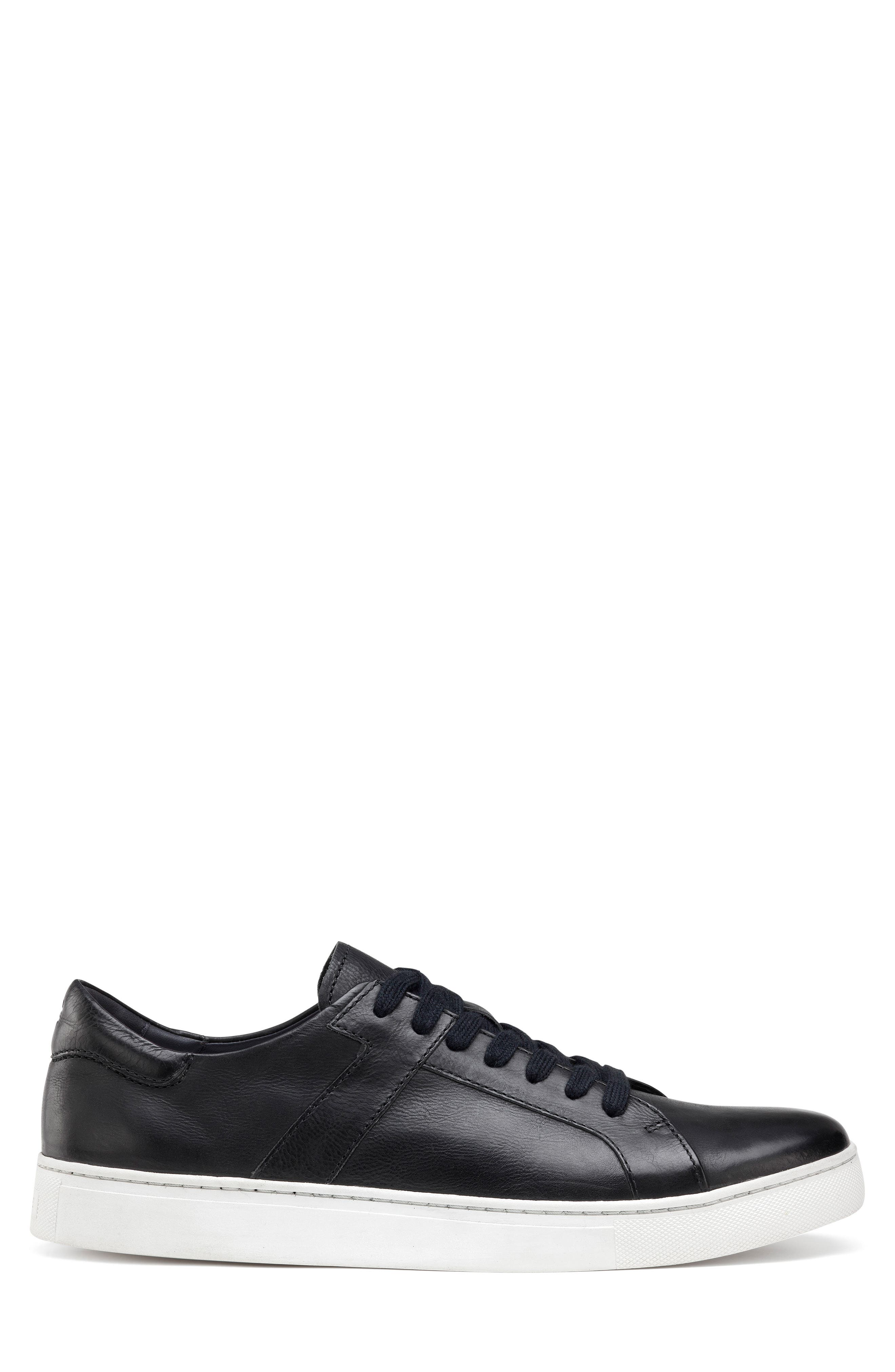 TRASK, Aaron Sneaker, Alternate thumbnail 3, color, BLACK LEATHER