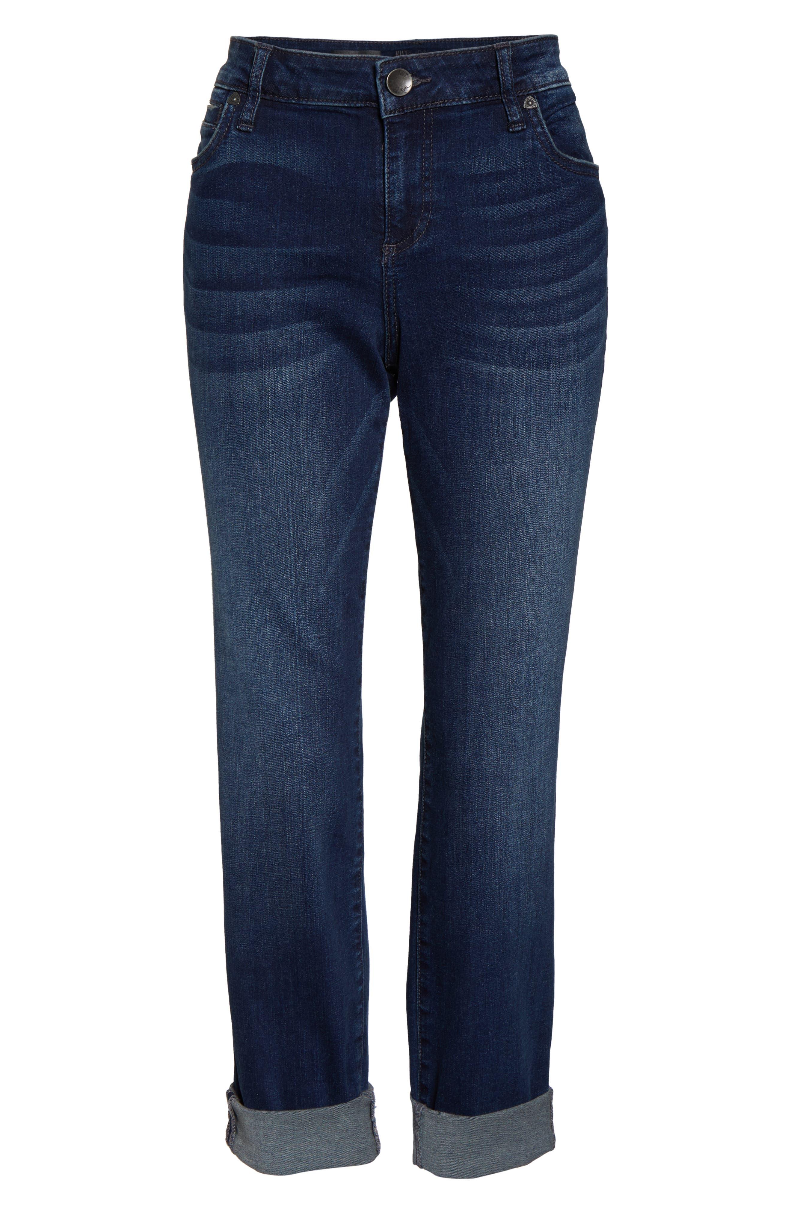 KUT FROM THE KLOTH, 'Catherine' Slim Boyfriend Jeans, Alternate thumbnail 6, color, CAREFULNESS