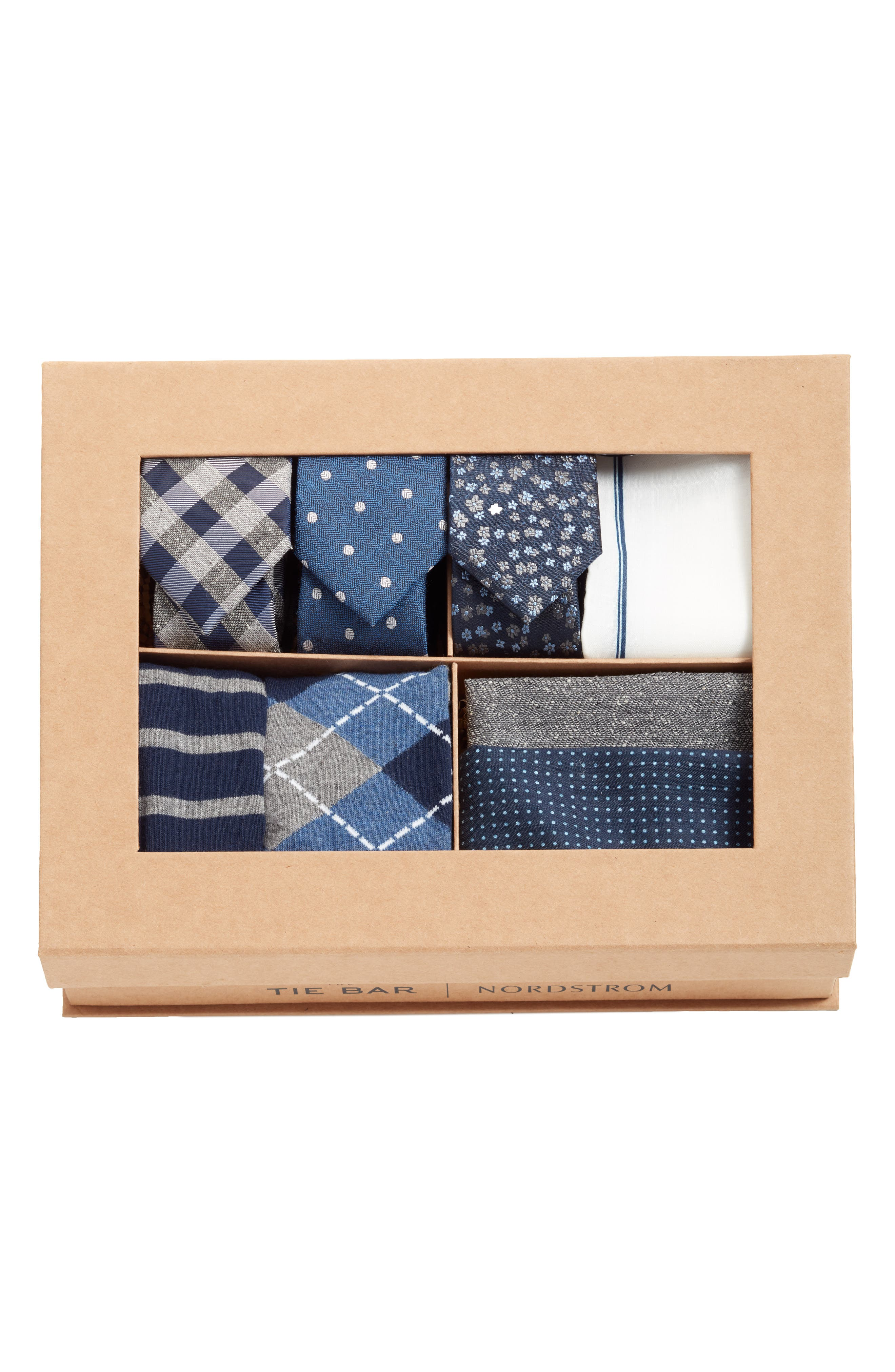 THE TIE BAR, Large Navy Style Box, Alternate thumbnail 2, color, 410