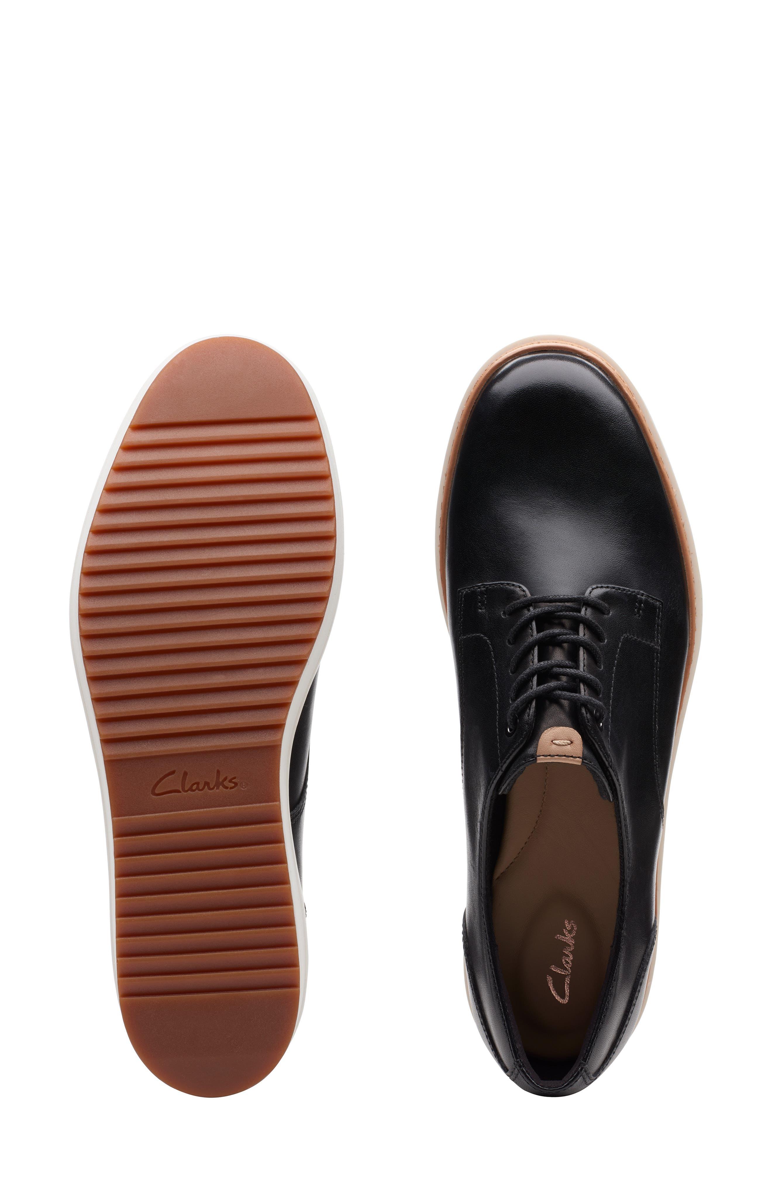 CLARKS<SUP>®</SUP>, Teadale Rhea Platform Oxford, Alternate thumbnail 6, color, BLACK LEATHER