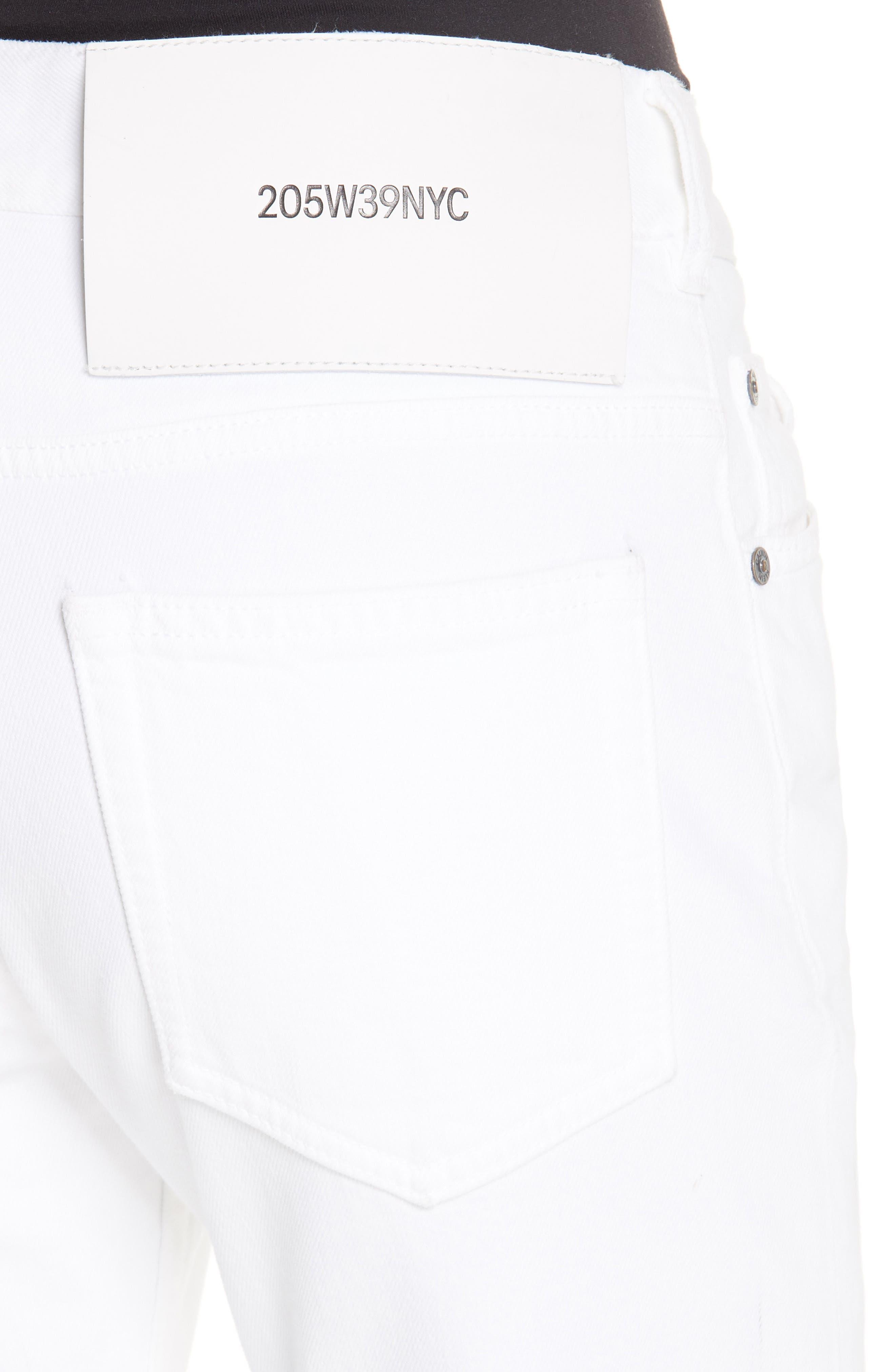 CALVIN KLEIN 205W39NYC, Straight Leg Jeans, Alternate thumbnail 4, color, OPTIC WHITE