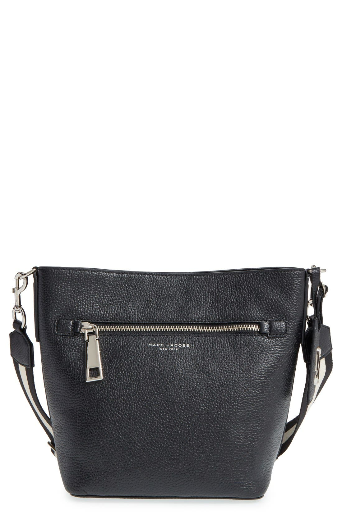 MARC JACOBS, 'Gotham' Leather Bucket Bag, Main thumbnail 1, color, 001