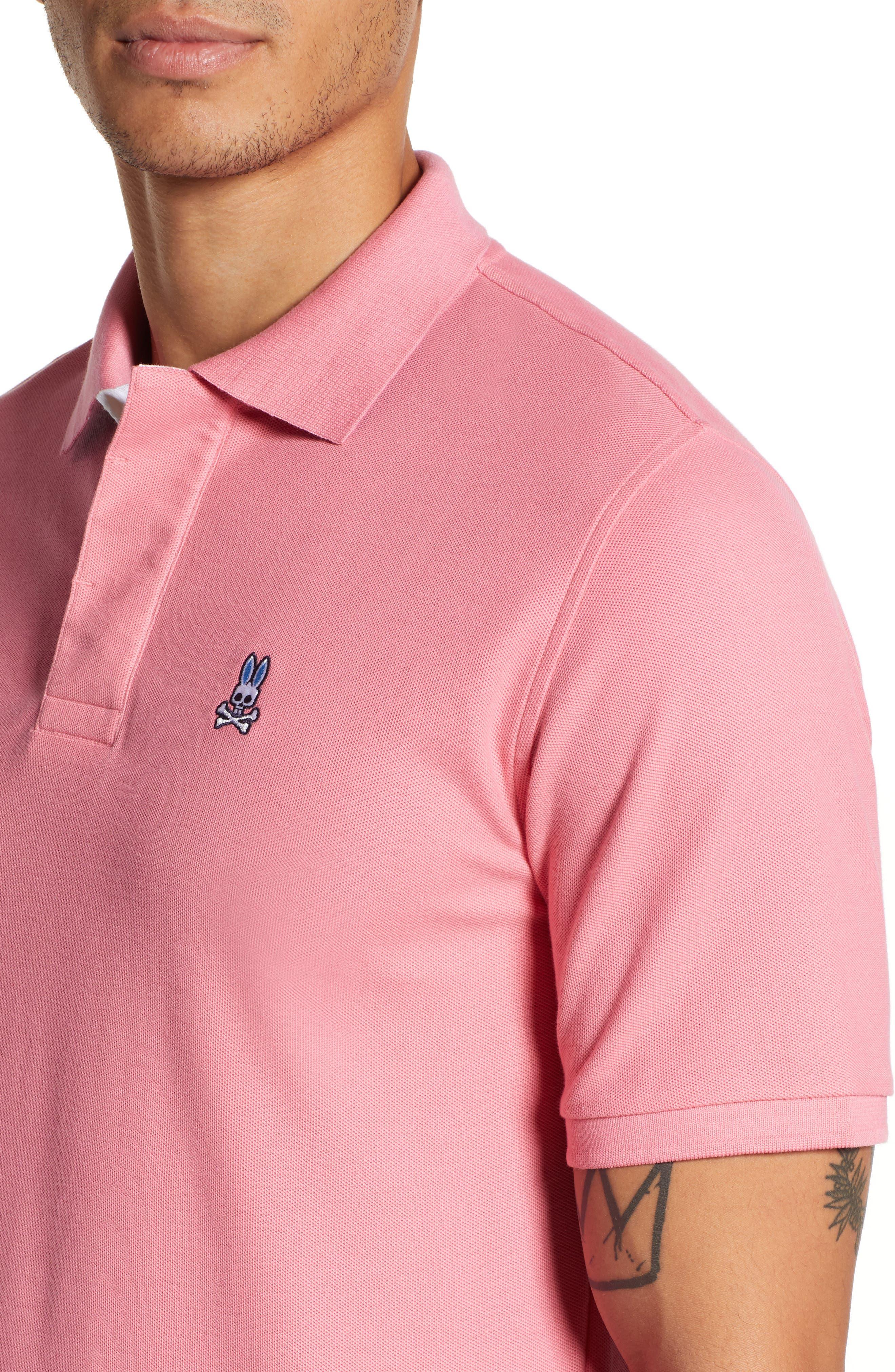 PSYCHO BUNNY, Classic Polo Shirt, Alternate thumbnail 4, color, 498