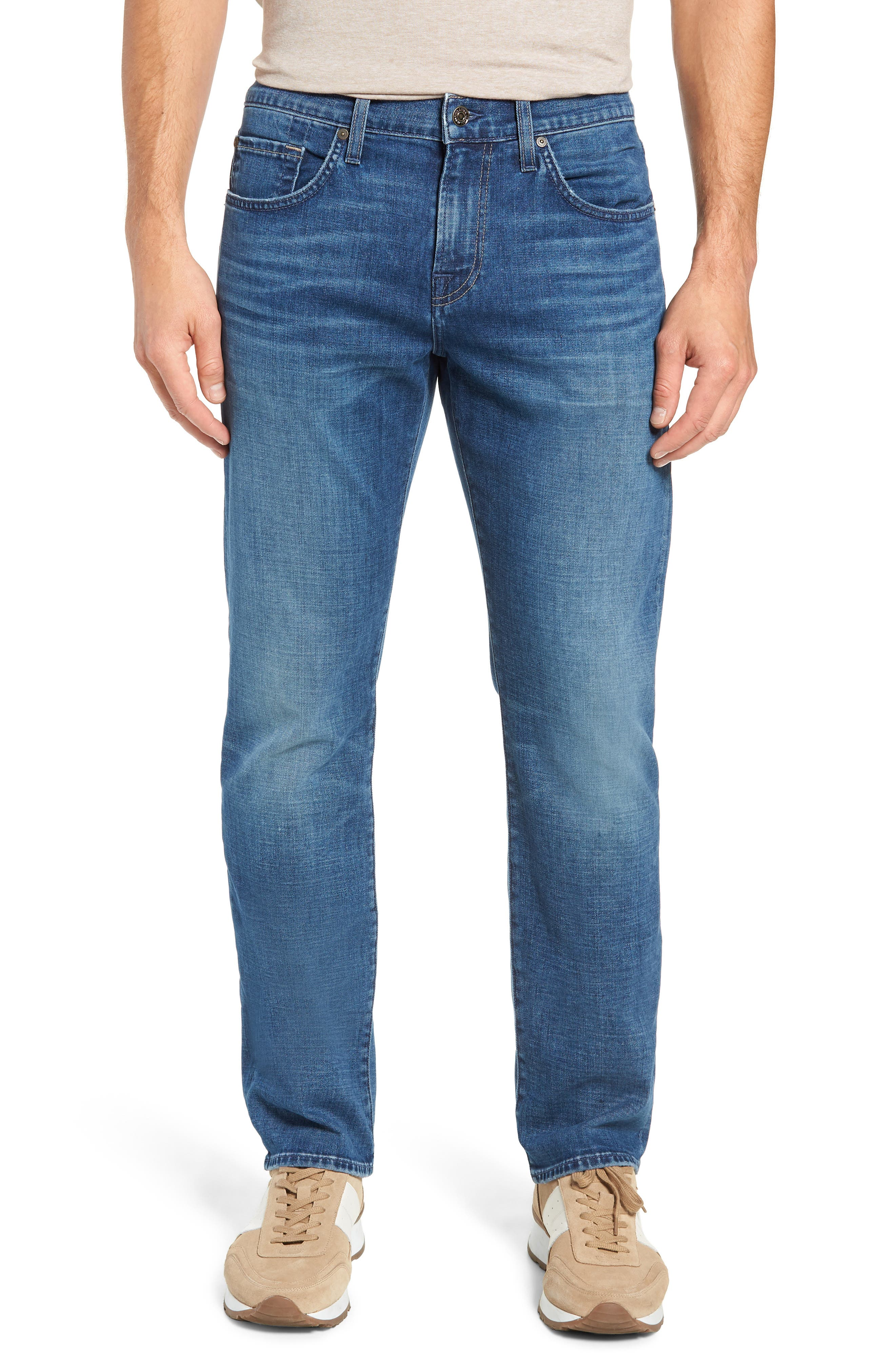 7 FOR ALL MANKIND<SUP>®</SUP> Straight Slim Straight Leg Jeans, Main, color, LYNNWOOD-LYNN
