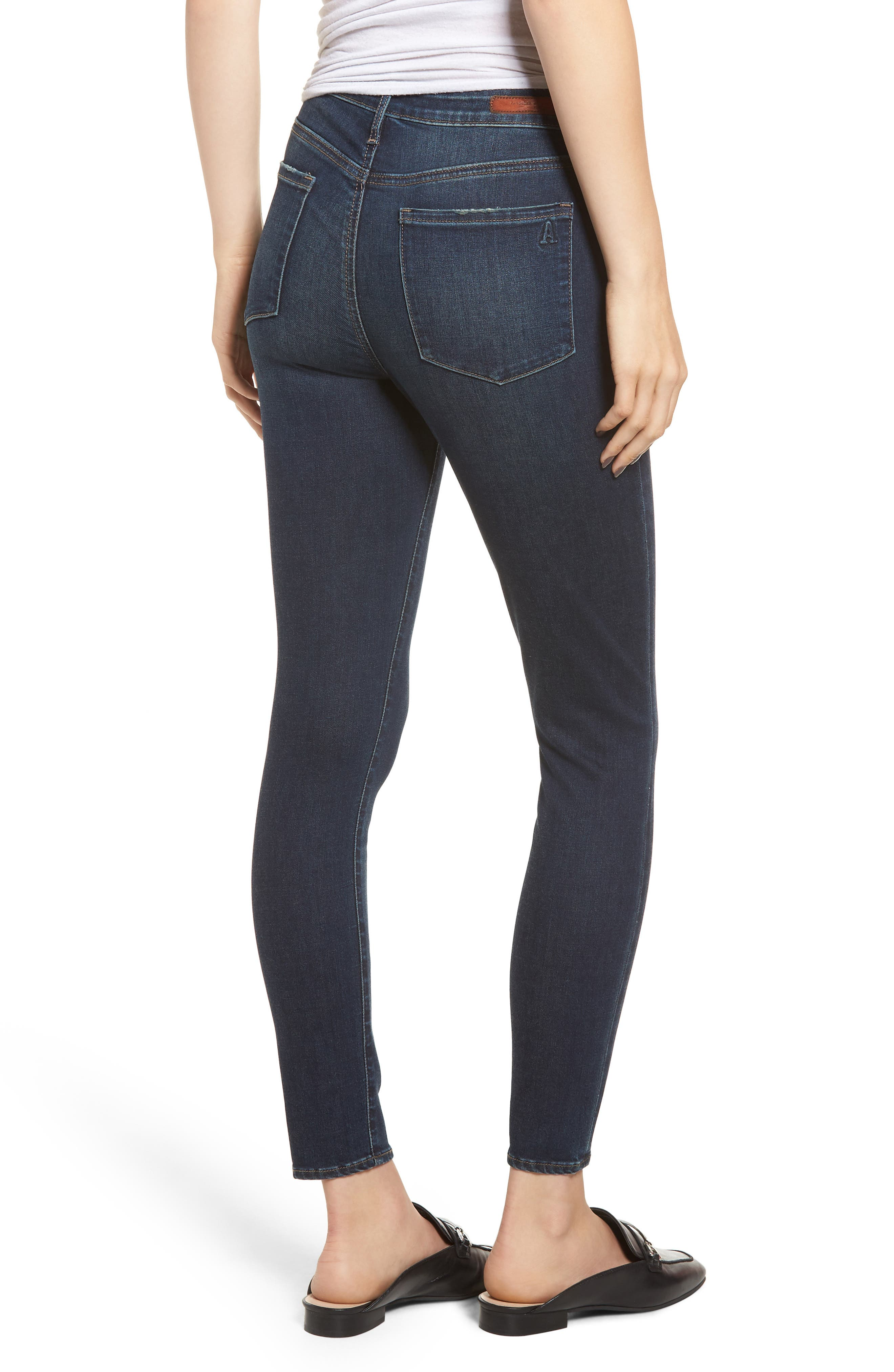 ARTICLES OF SOCIETY, Heather High Waist Ankle Skinny Jeans, Alternate thumbnail 2, color, 461