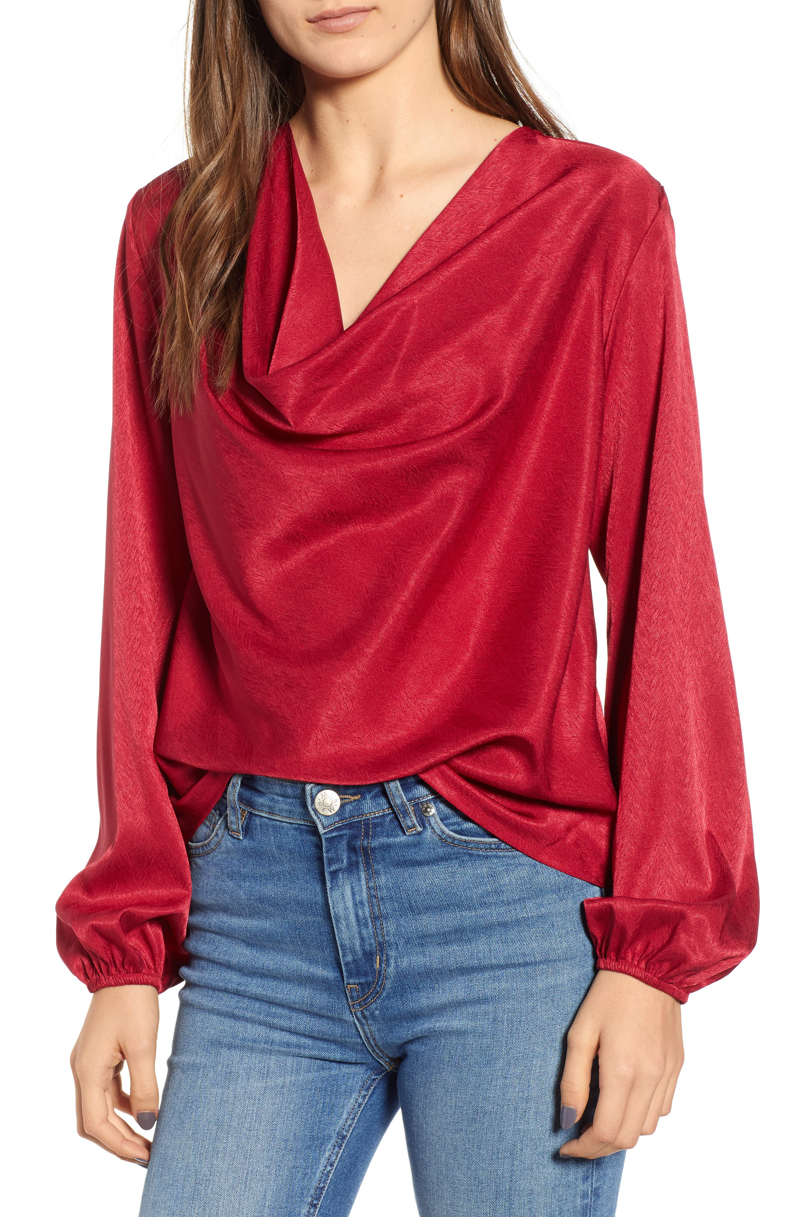 THE FIFTH LABEL Lotti Cowl Neck Top, Main, color, 600
