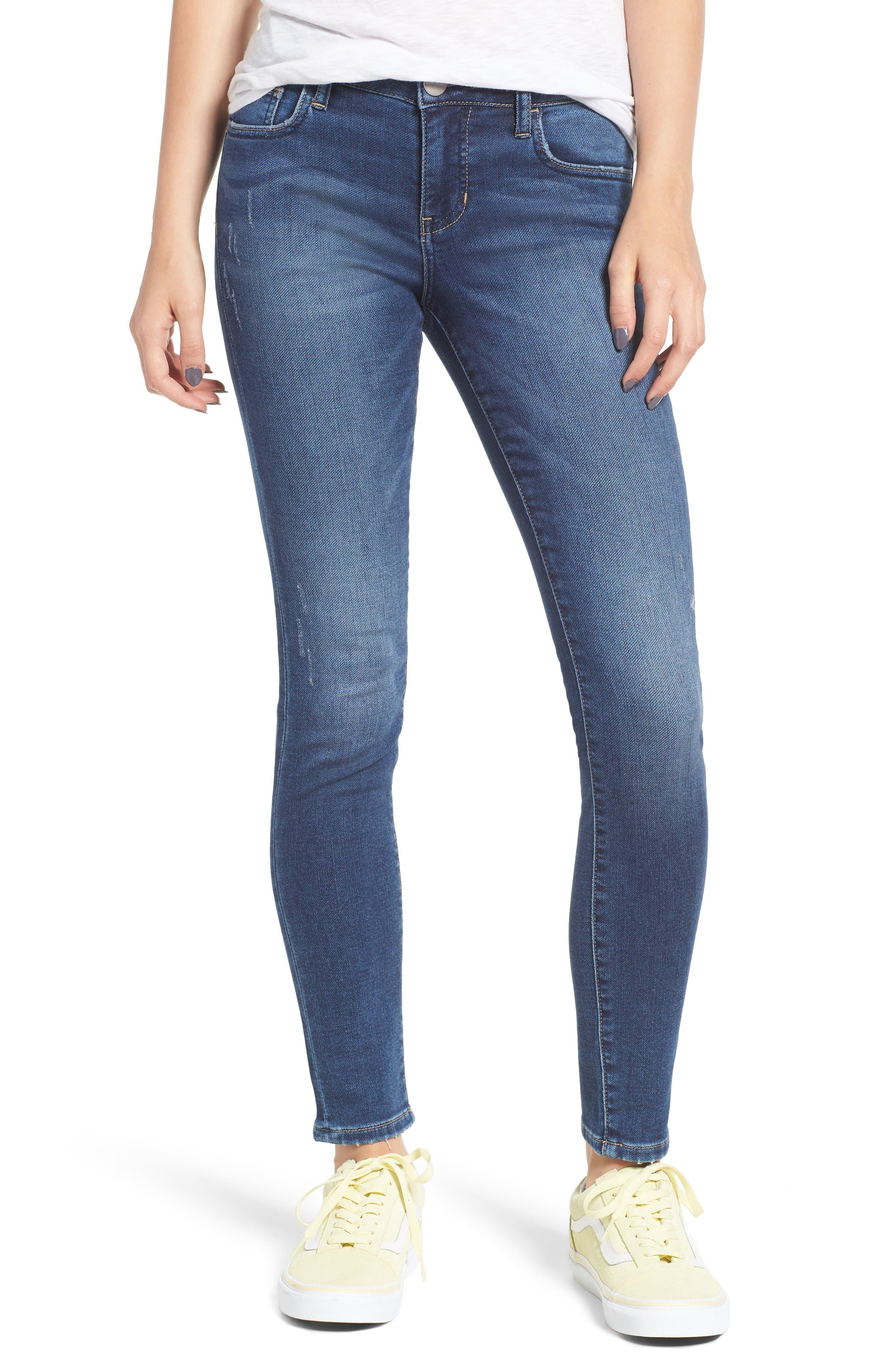 PROSPERITY DENIM Skinny Jeans, Main, color, DARK