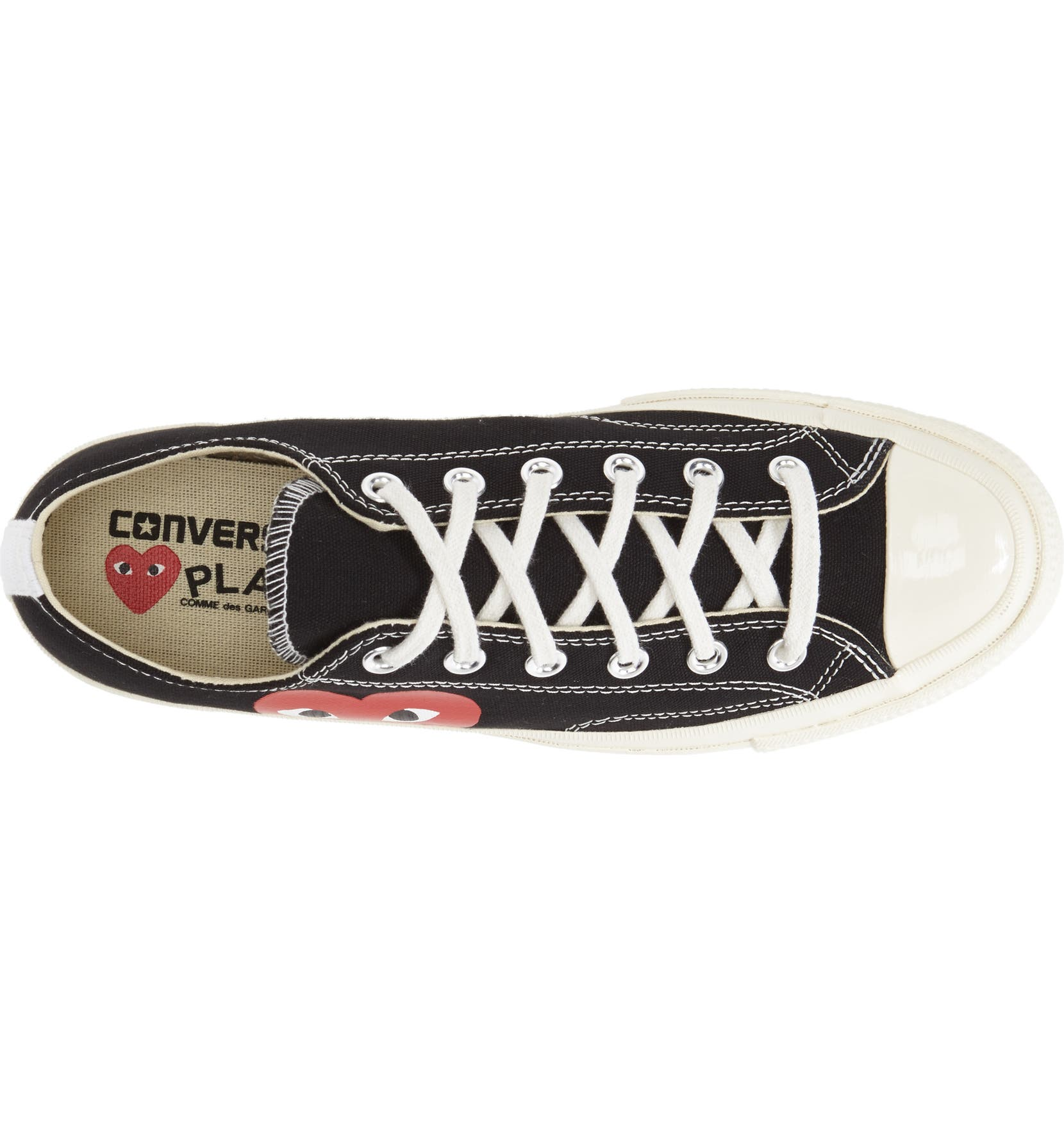 e48c9cef24a Comme des Garçons PLAY x Converse Chuck Taylor® Hidden Heart Low Top Sneaker  (Women)