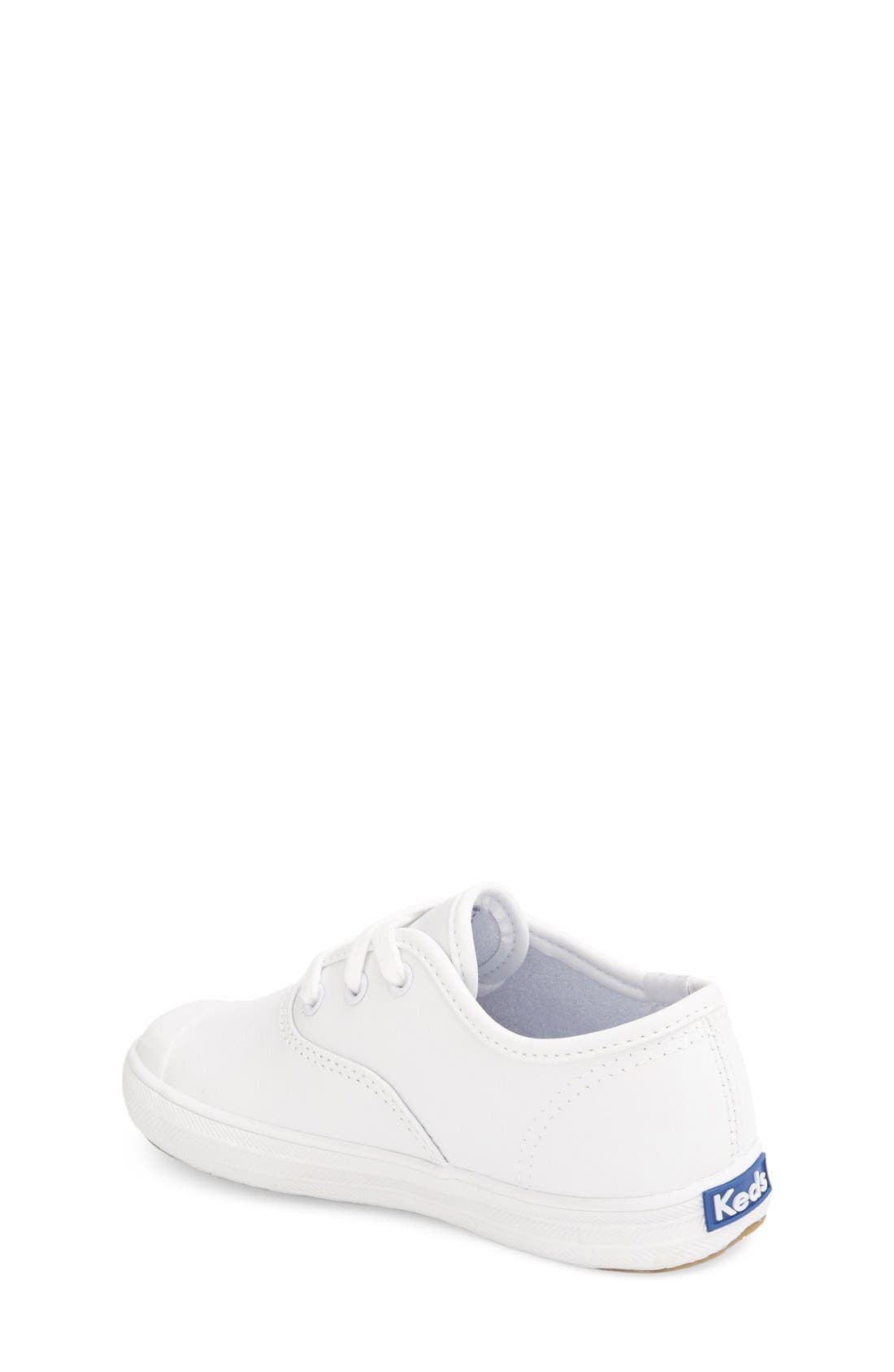 KEDS<SUP>®</SUP>, 'Champion' Sneaker, Alternate thumbnail 2, color, WHITE LEATHER