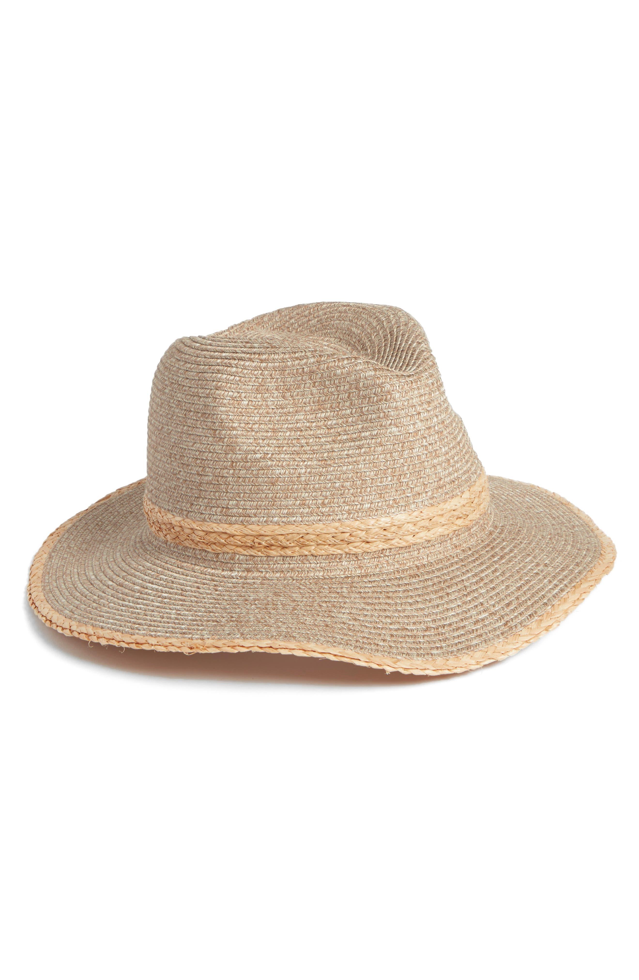 HALOGEN<SUP>®</SUP>, Packable Panama Hat, Main thumbnail 1, color, NATURAL