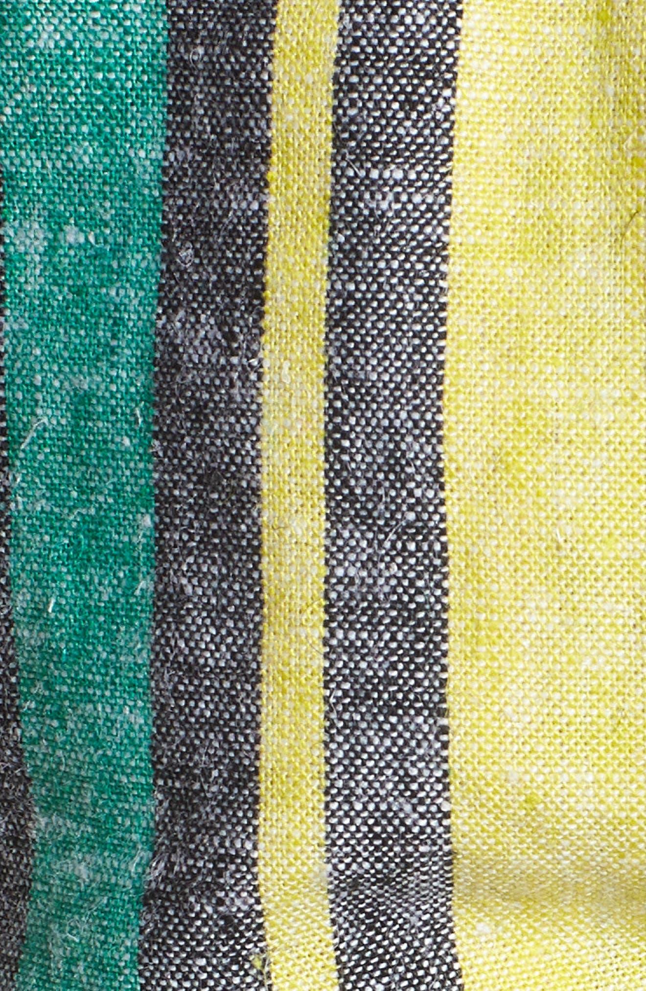 AFRM, Kia Tie Front Detail Crop Top, Alternate thumbnail 5, color, 650